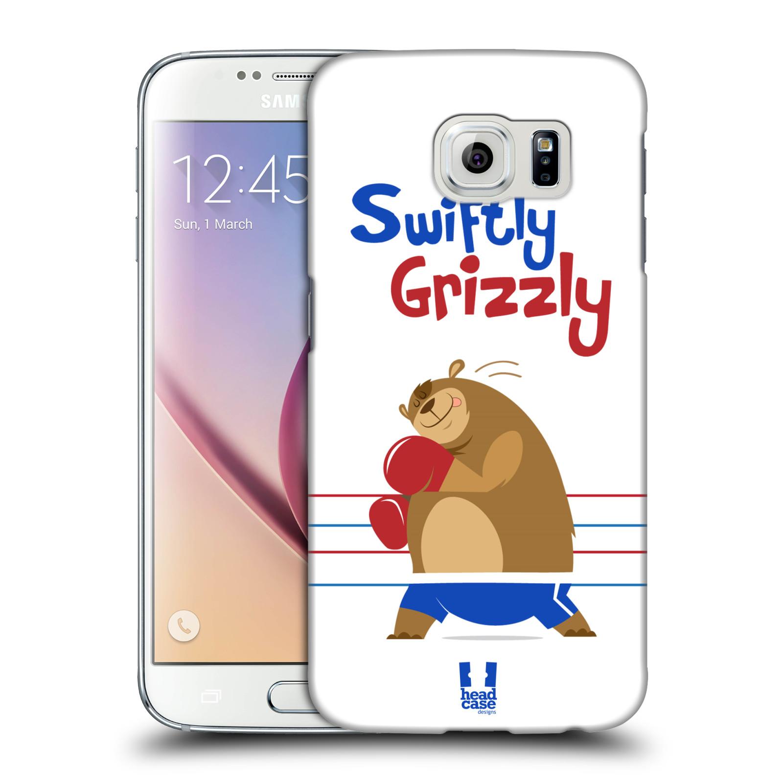 HEAD CASE plastový obal na mobil SAMSUNG Galaxy S6 (G9200, G920F) vzor Zvířátka atleti medvěd boxér