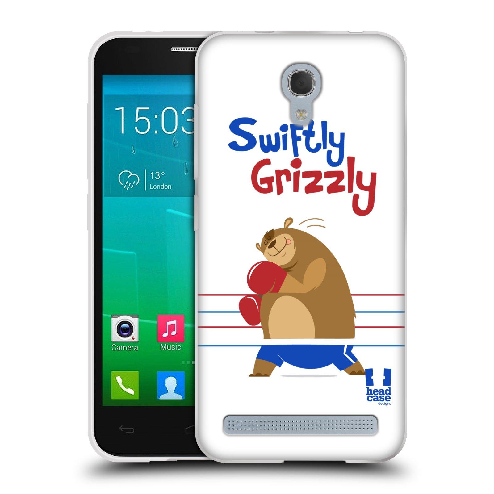 HEAD CASE silikonový obal na mobil Alcatel Idol 2 MINI S 6036Y vzor Zvířátka atleti medvěd boxér