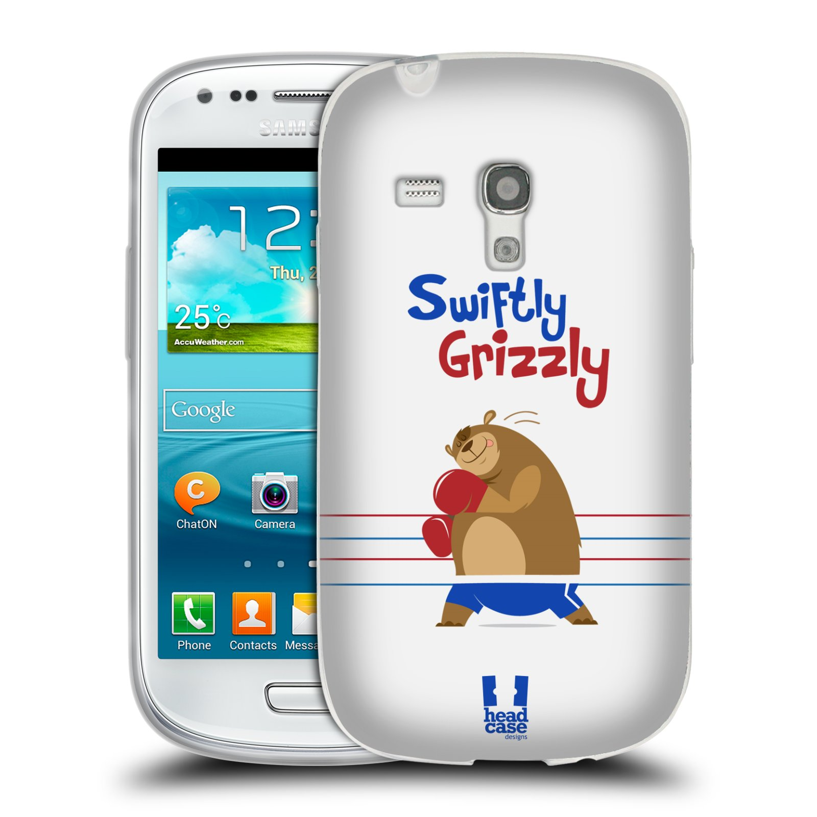 HEAD CASE silikonový obal na mobil Samsung Galaxy S3 MINI i8190 vzor Zvířátka atleti medvěd boxér