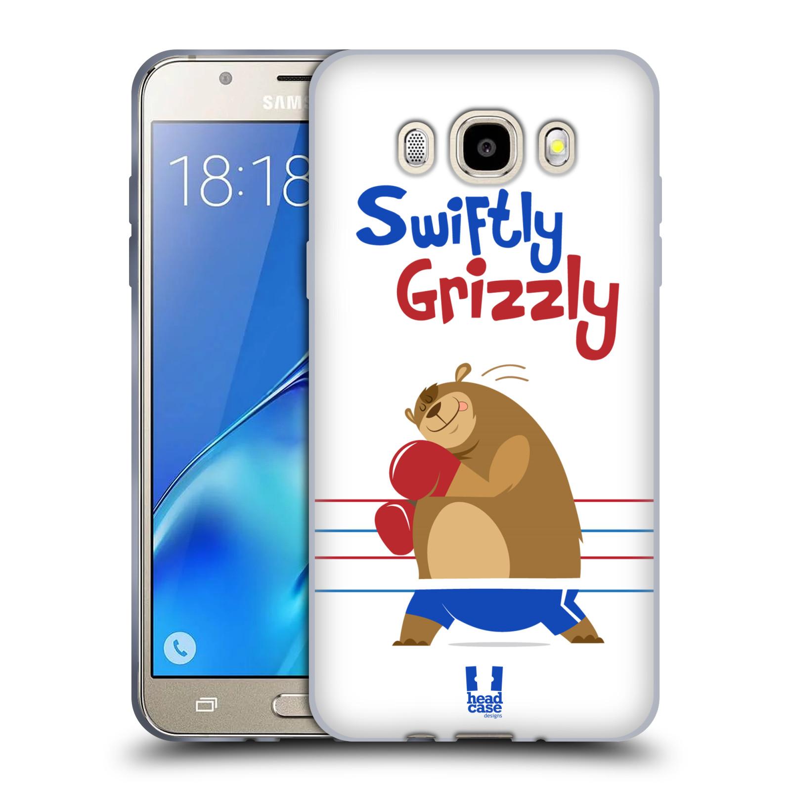 HEAD CASE silikonový obal, kryt na mobil Samsung Galaxy J5 2016, J510, J510F, (J510F DUAL SIM) vzor Zvířátka atleti medvěd boxér