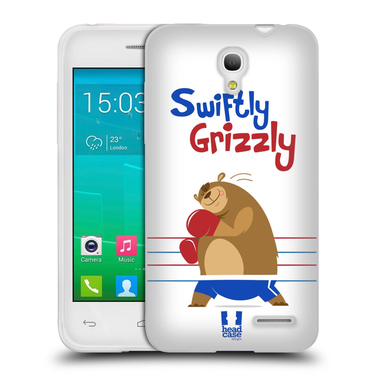 HEAD CASE silikonový obal na mobil Alcatel POP S3 OT-5050Y vzor Zvířátka atleti medvěd boxér