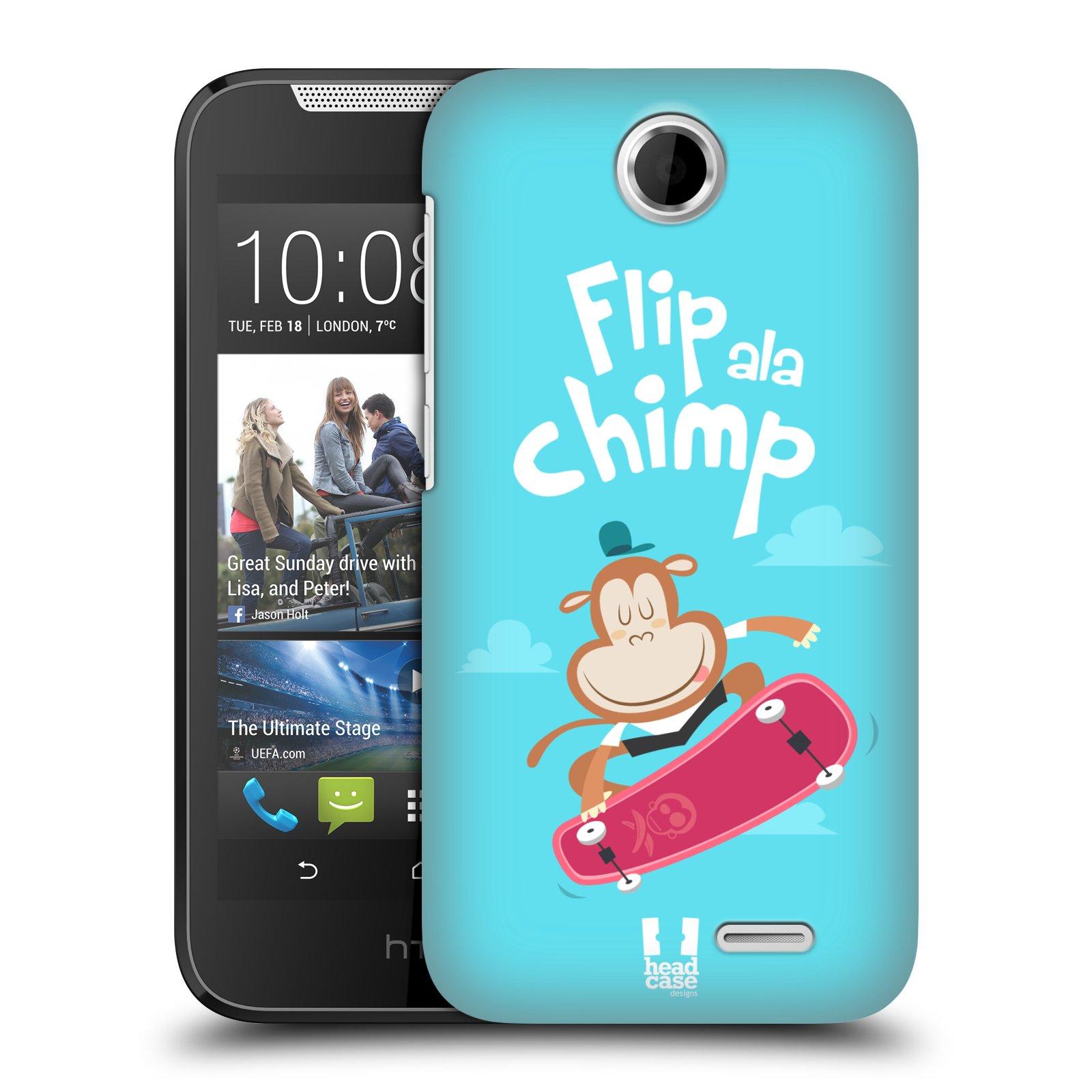 HEAD CASE plastový obal na mobil HTC Desire 310 vzor Zvířátka atleti opice