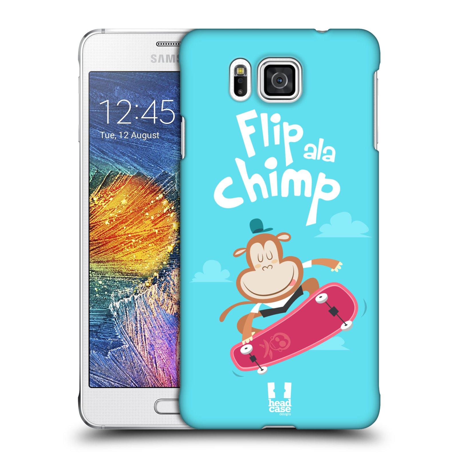 HEAD CASE plastový obal na mobil SAMSUNG Galaxy Alpha (G850) vzor Zvířátka atleti opice