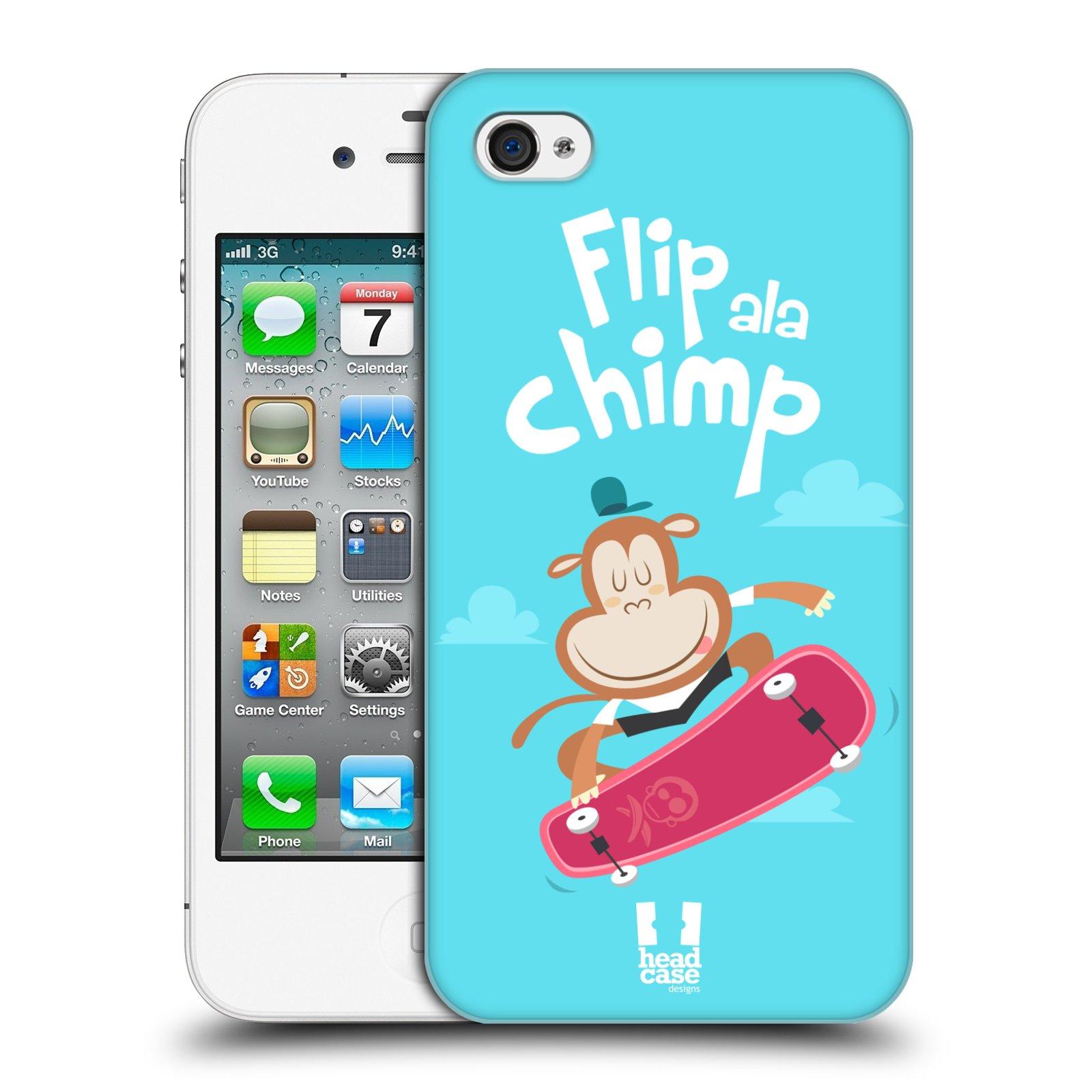 HEAD CASE plastový obal na mobil Apple Iphone 4/4S vzor Zvířátka atleti opice
