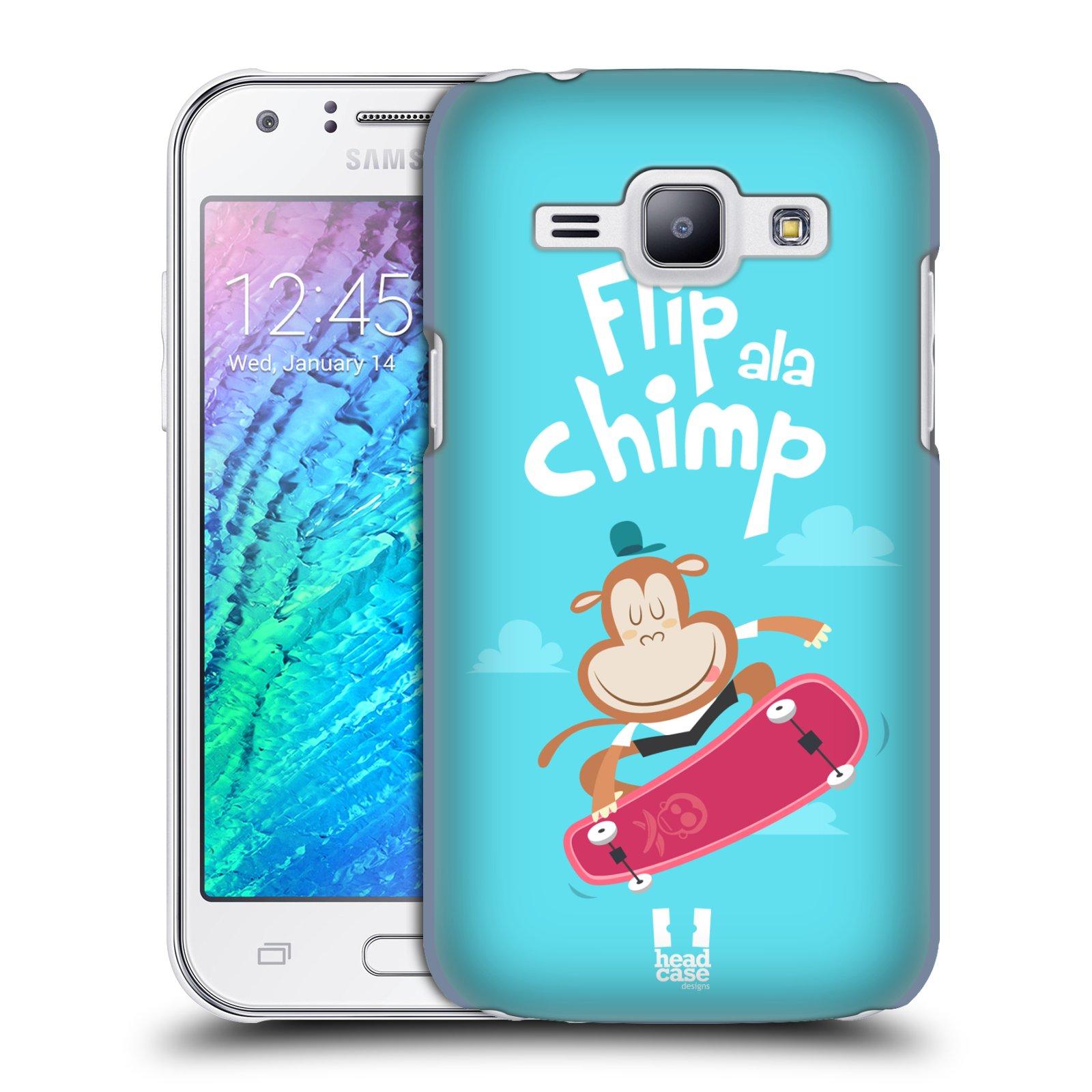 HEAD CASE plastový obal na mobil SAMSUNG Galaxy J1, J100 vzor Zvířátka atleti opice