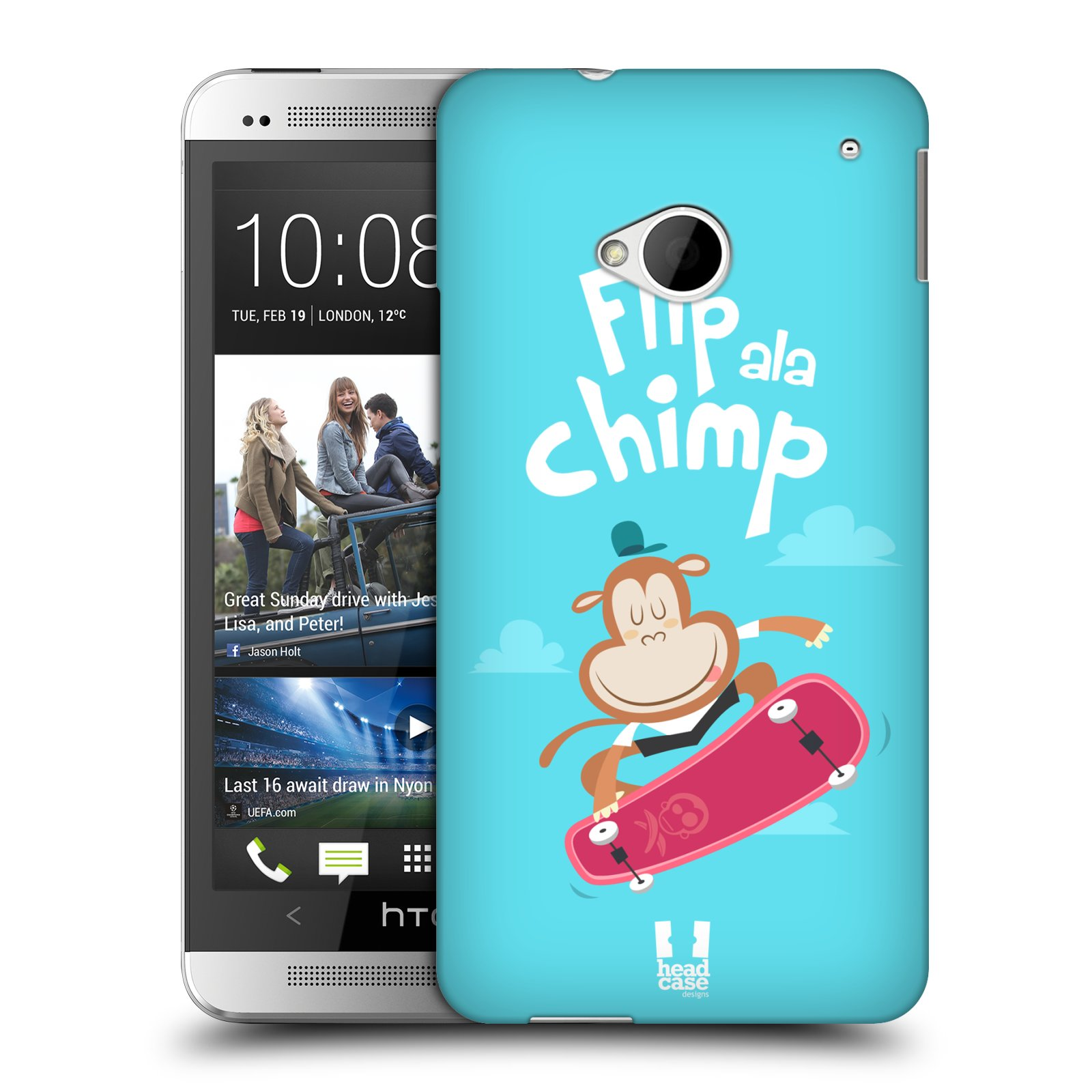 HEAD CASE plastový obal na mobil HTC One (M7) vzor Zvířátka atleti opice