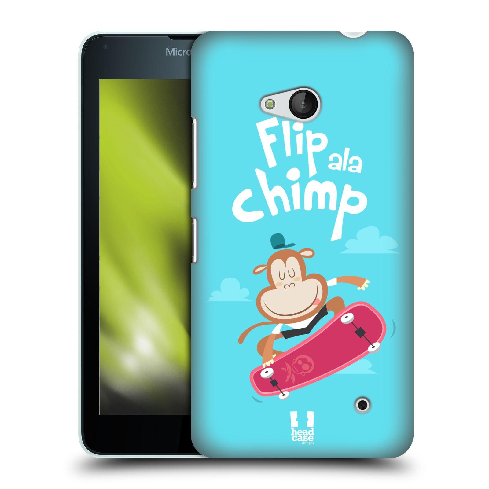 HEAD CASE plastový obal na mobil Nokia Lumia 640 vzor Zvířátka atleti opice