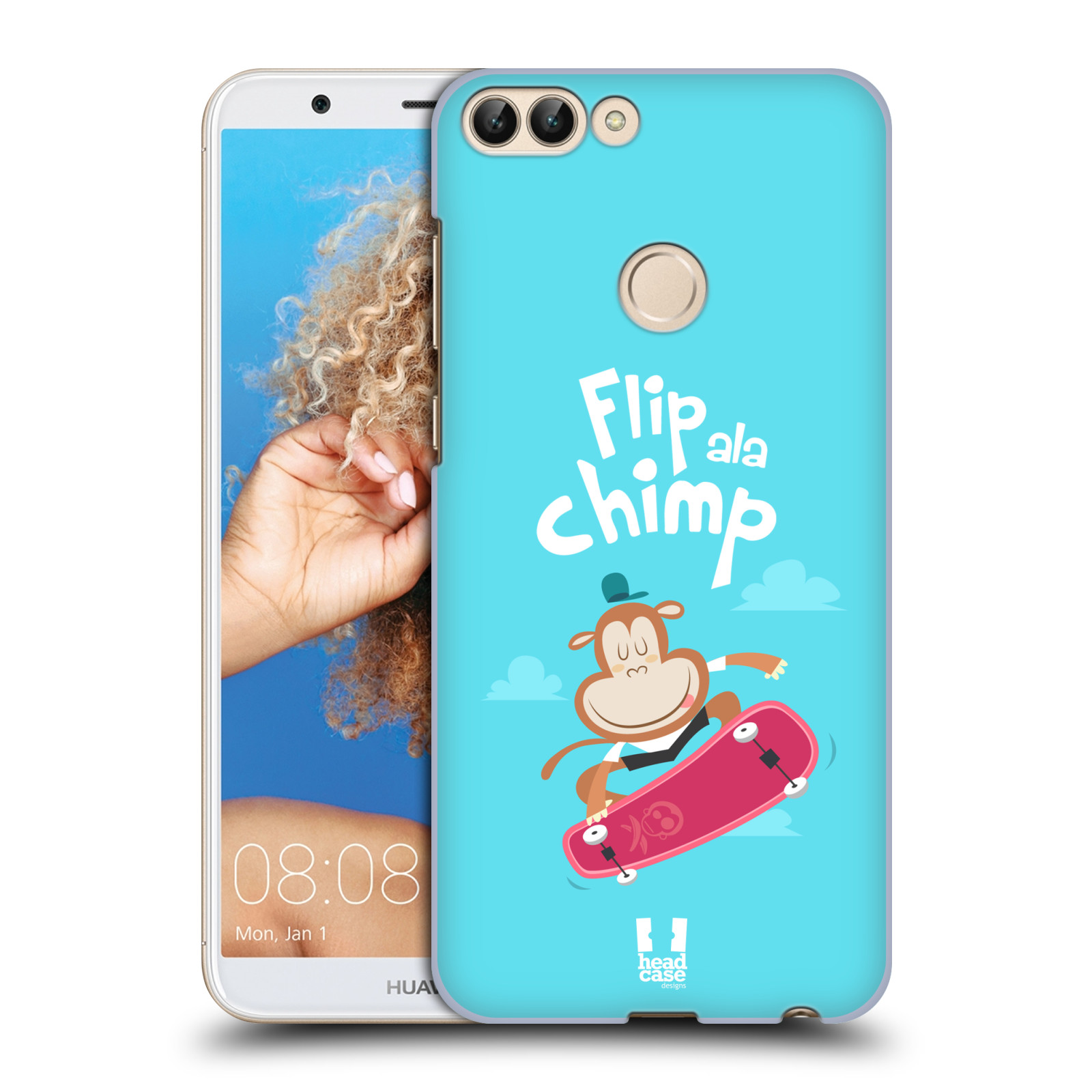 HEAD CASE plastový obal na mobil Huawei P Smart vzor Zvířátka atleti opice