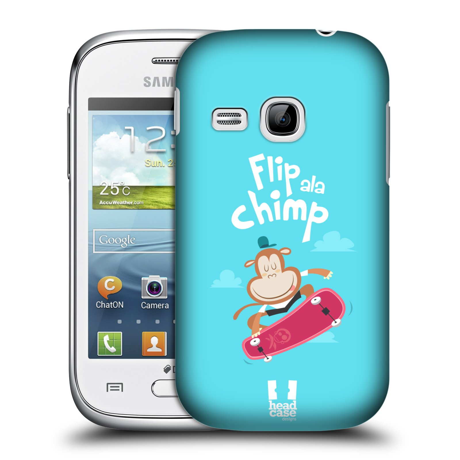 HEAD CASE plastový obal na mobil SAMSUNG Galaxy Young S6310 vzor Zvířátka atleti opice