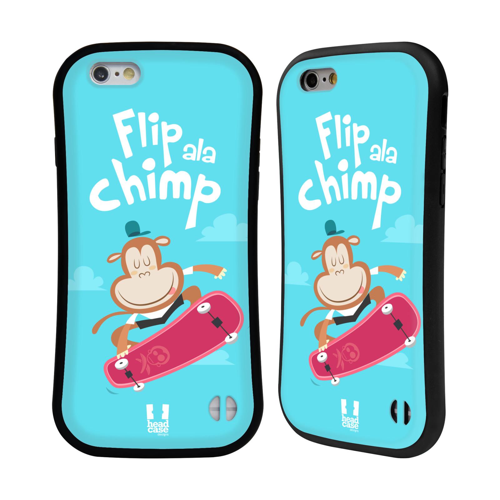 HEAD CASE silikon/plast odolný obal na mobil Apple Iphone 6/6S vzor Zvířátka atleti opice