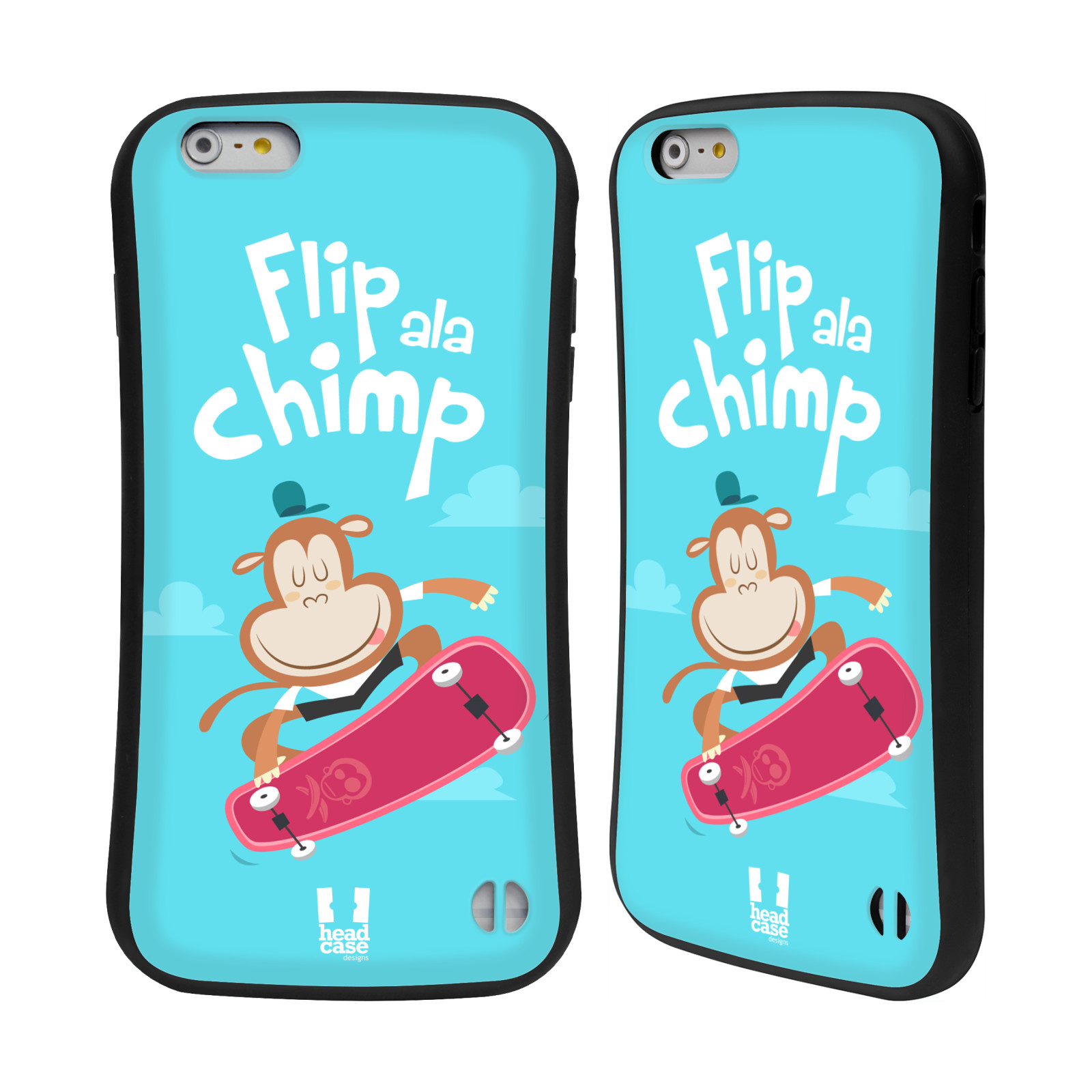 HEAD CASE silikon/plast odolný obal na mobil Apple Iphone 6 PLUS / 6S PLUS vzor Zvířátka atleti opice