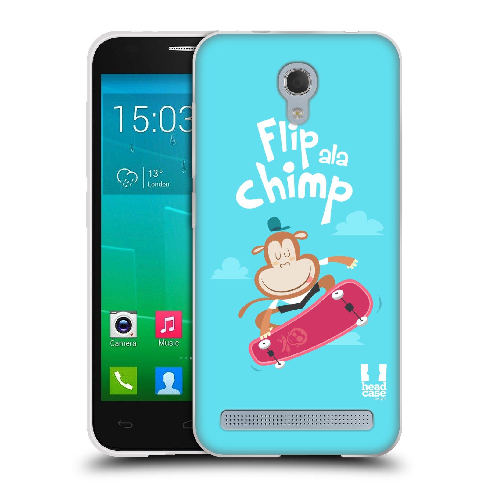 HEAD CASE silikonový obal na mobil Alcatel Idol 2 MINI S 6036Y vzor Zvířátka atleti opice