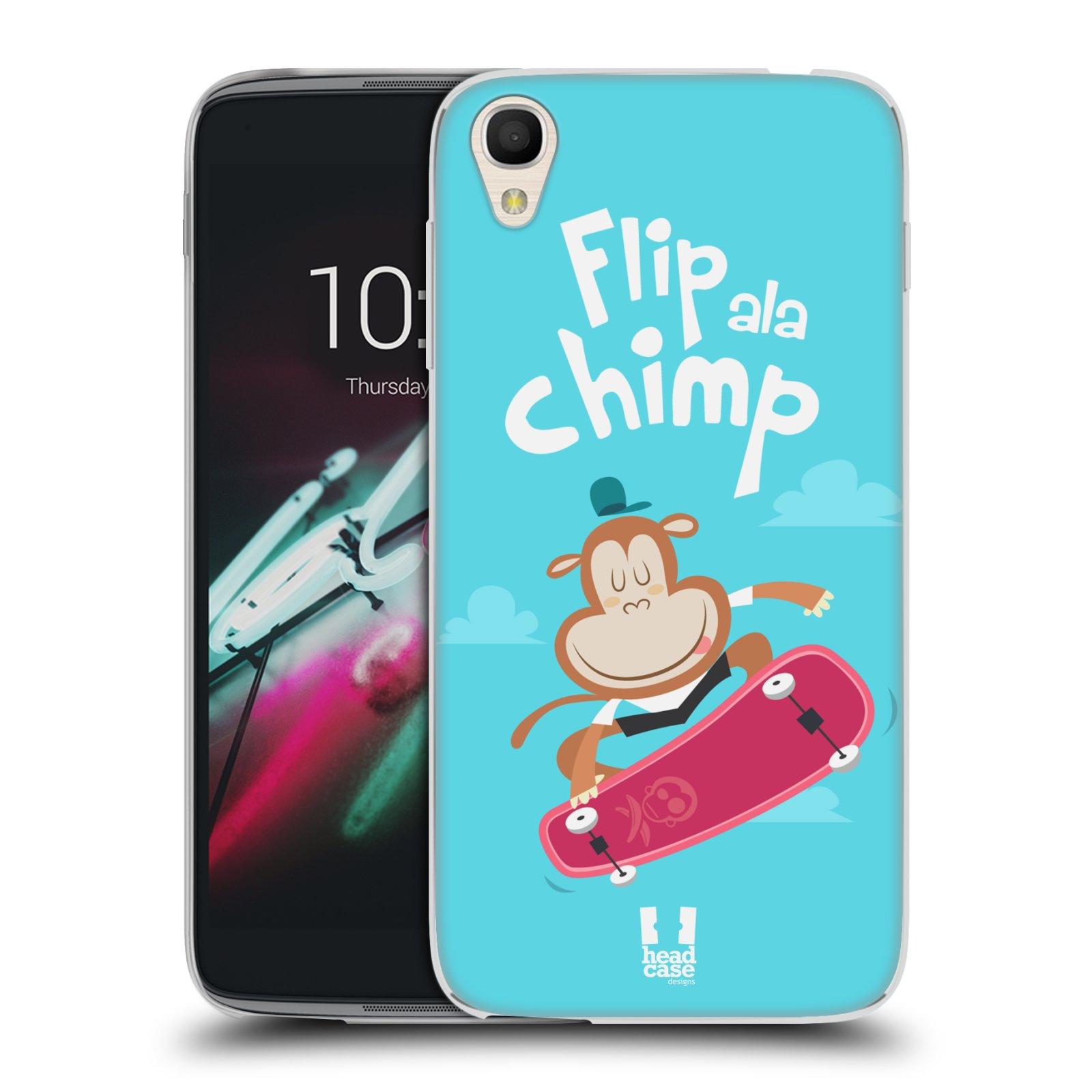HEAD CASE silikonový obal na mobil Alcatel Idol 3 OT-6039Y (4.7) vzor Zvířátka atleti opice