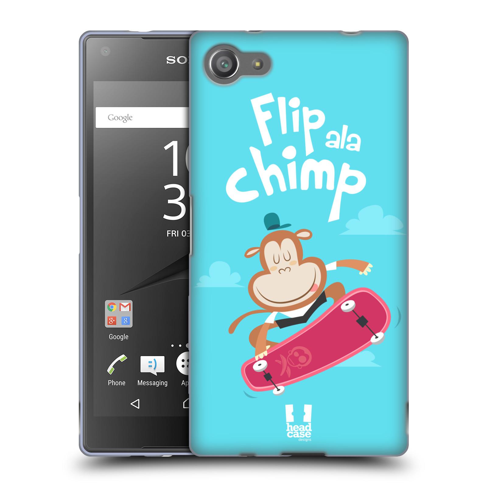 HEAD CASE silikonový obal na mobil Sony Xperia Z5 COMPACT vzor Zvířátka atleti opice