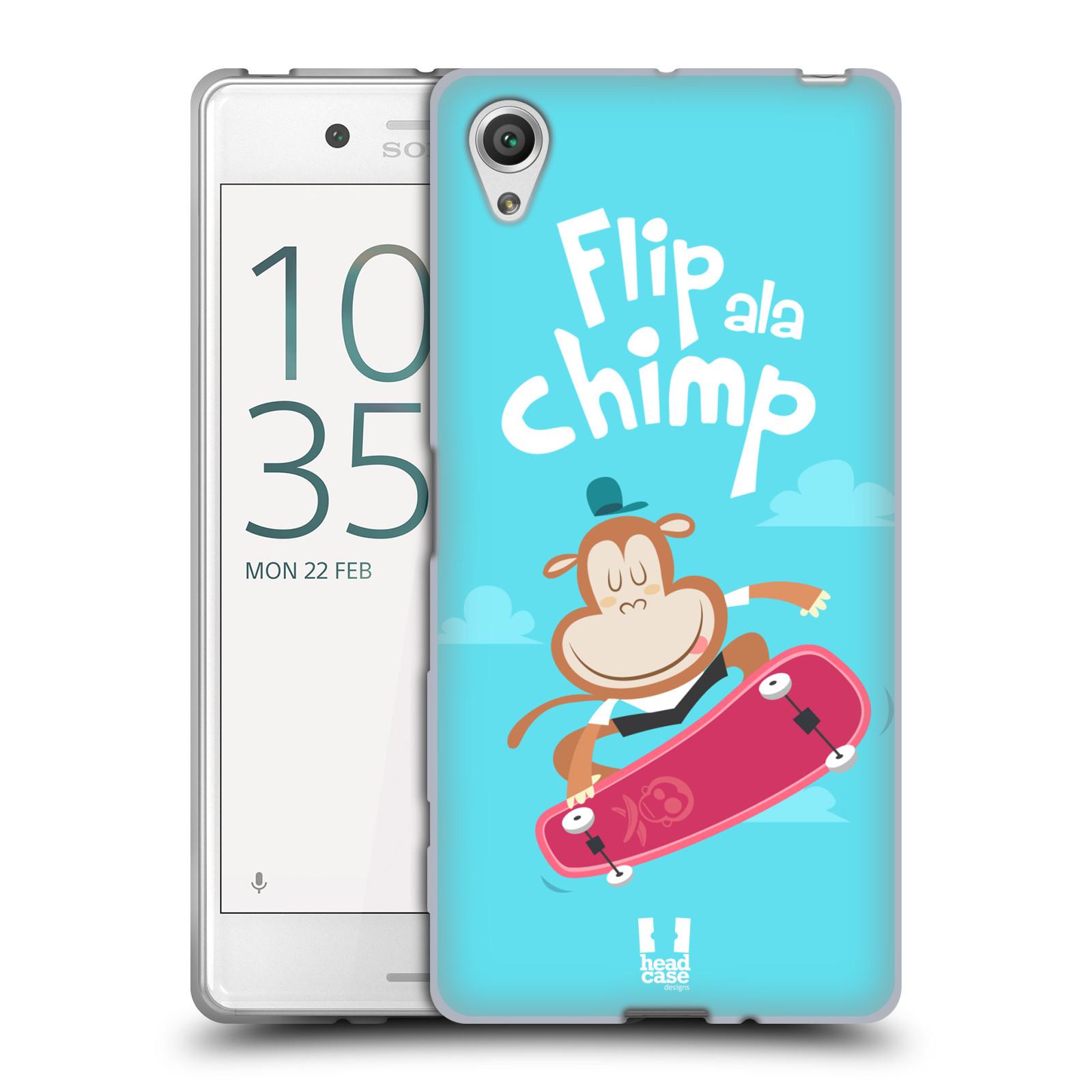 HEAD CASE silikonový obal na mobil Sony Xperia X / X DUAL vzor Zvířátka atleti opice