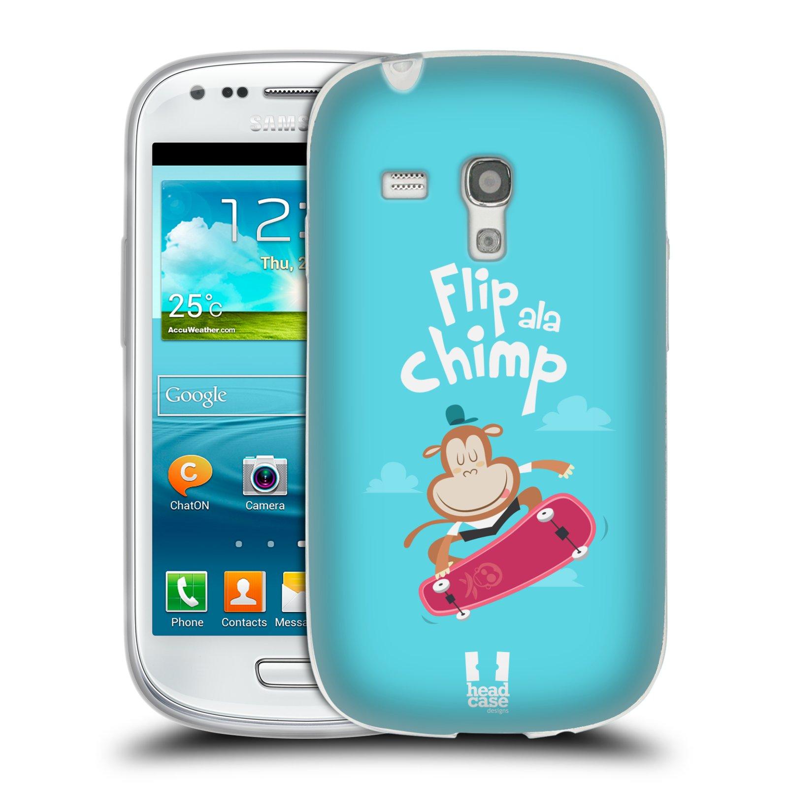 HEAD CASE silikonový obal na mobil Samsung Galaxy S3 MINI i8190 vzor Zvířátka atleti opice