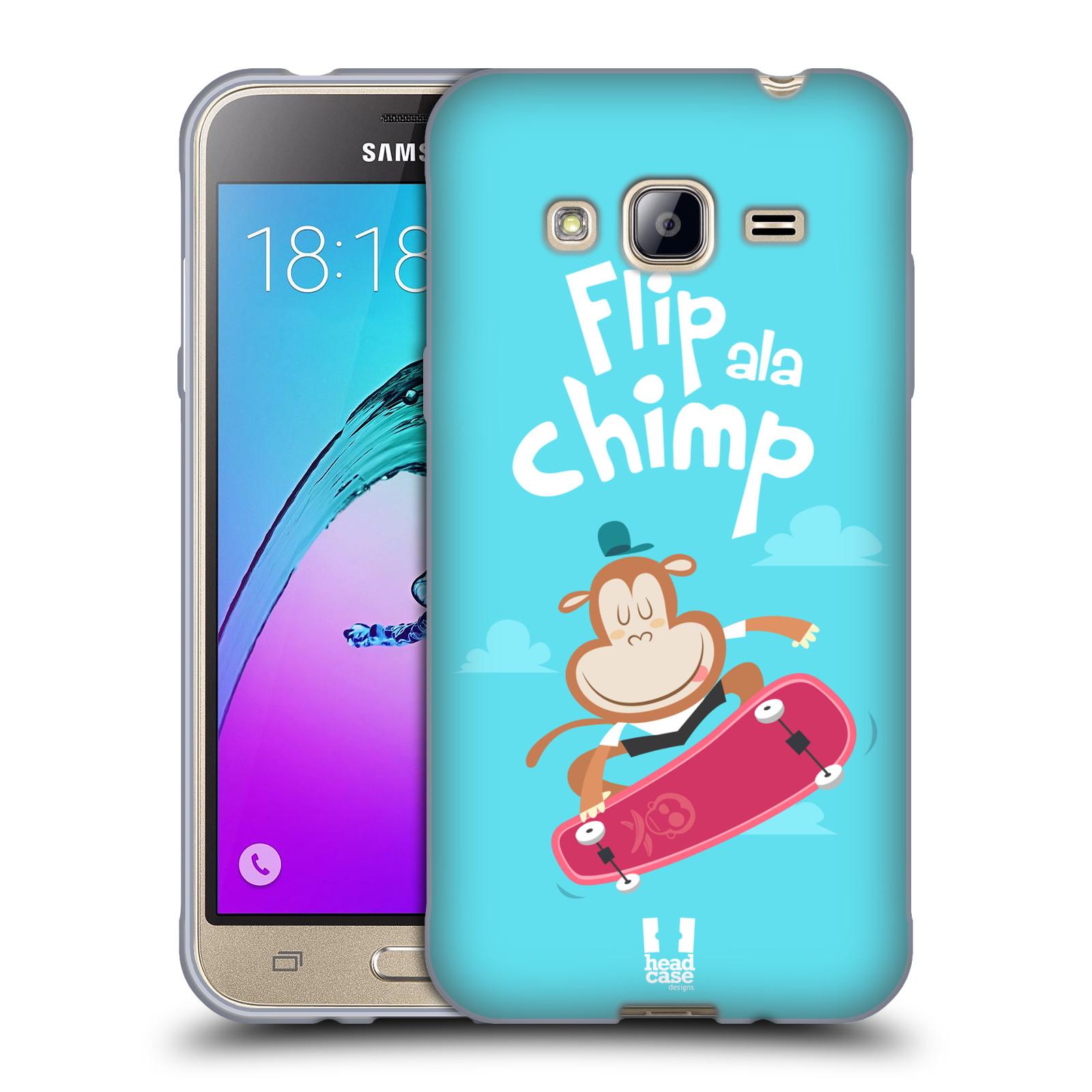 HEAD CASE silikonový obal na mobil Samsung Galaxy J3, J3 2016 vzor Zvířátka atleti opice