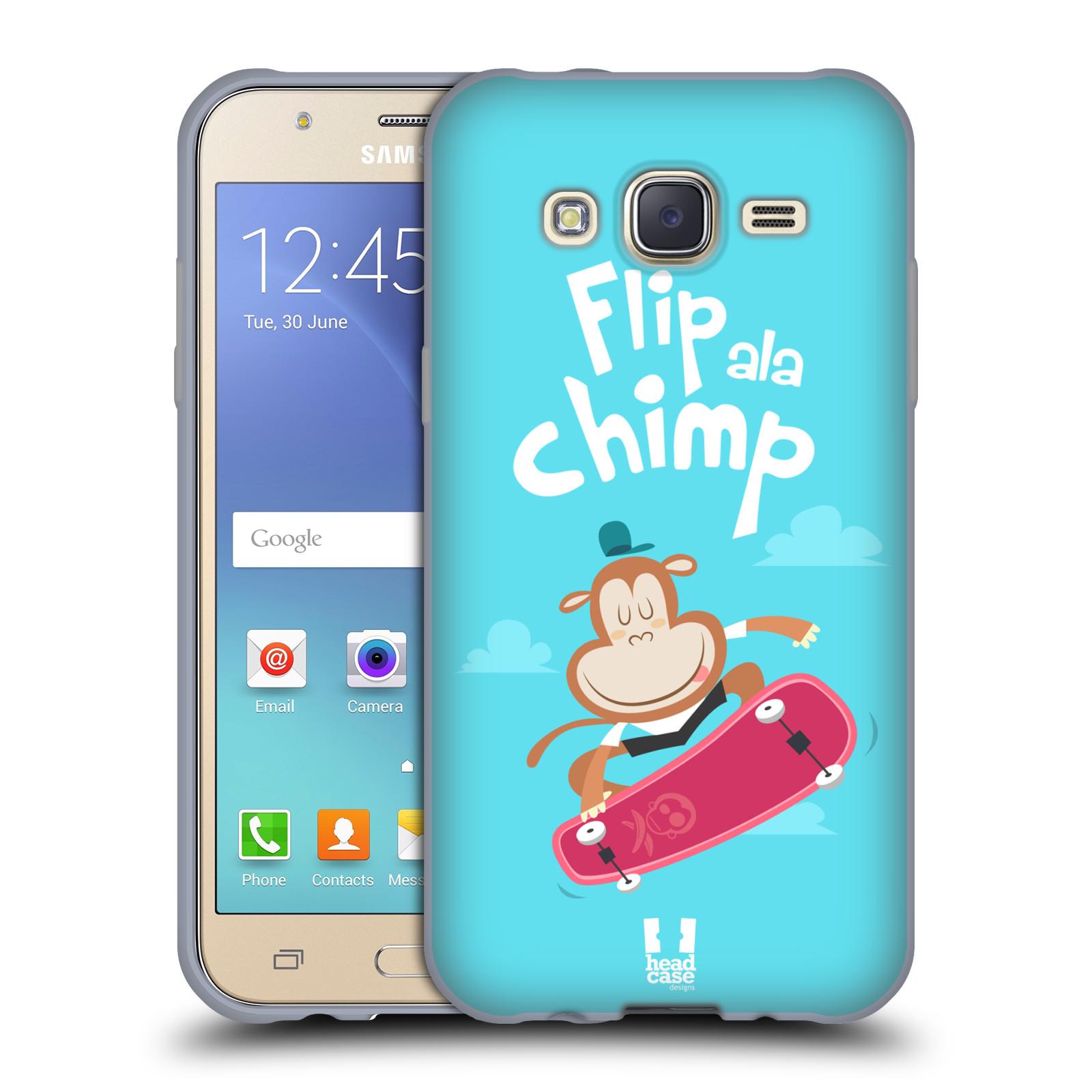 HEAD CASE silikonový obal na mobil Samsung Galaxy J5, J500, (J5 DUOS) vzor Zvířátka atleti opice