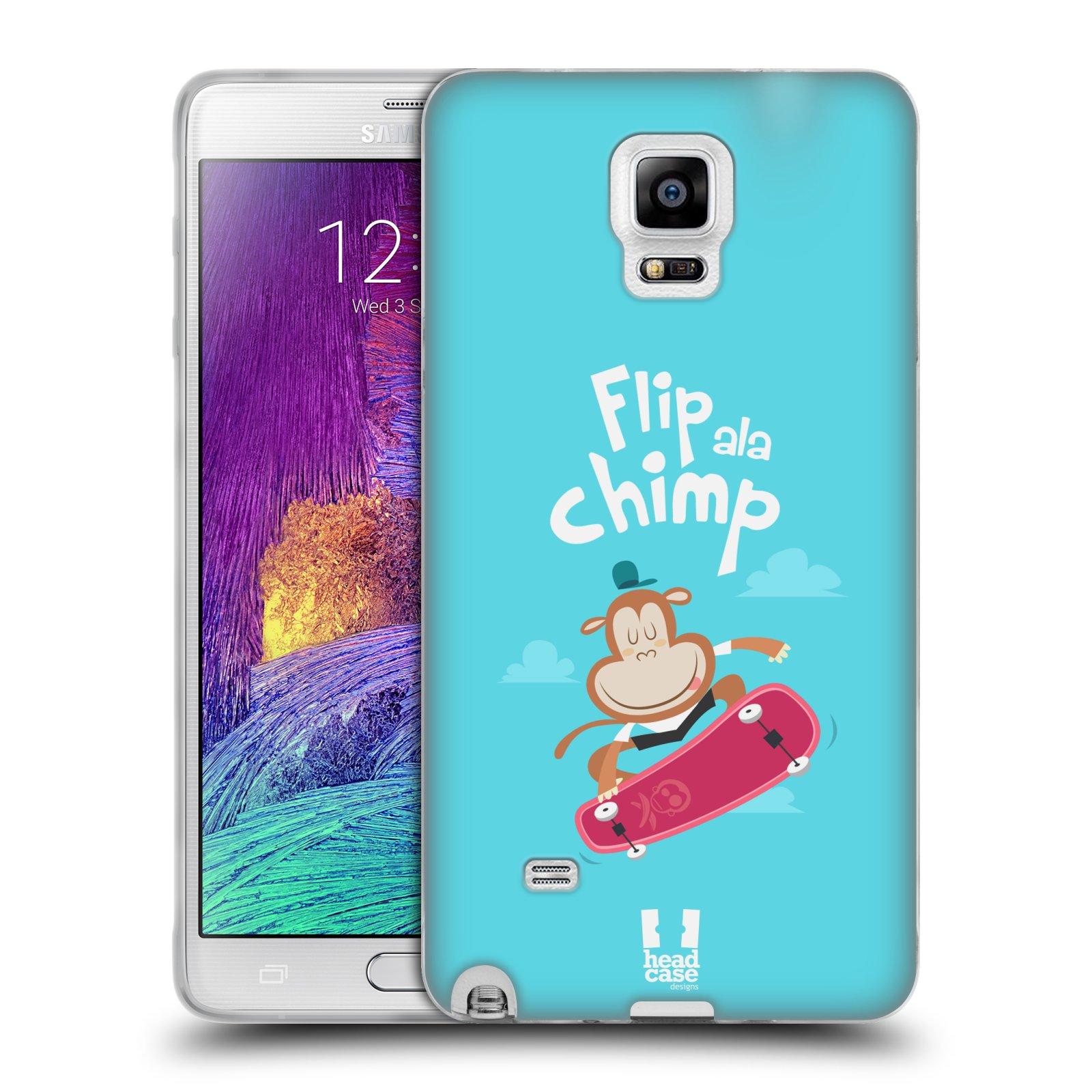 HEAD CASE silikonový obal na mobil Samsung Galaxy Note 4 (N910) vzor Zvířátka atleti opice