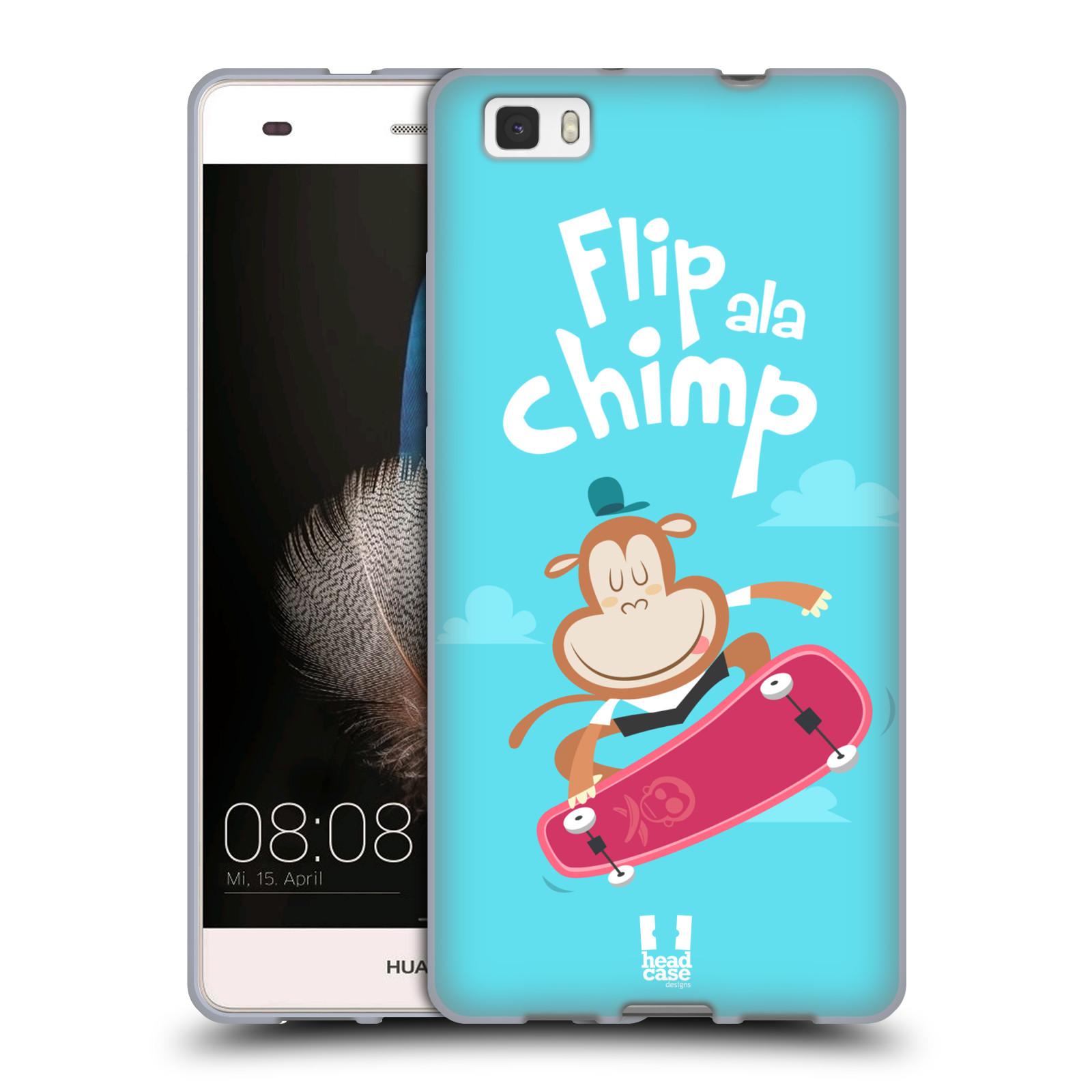 HEAD CASE silikonový obal na mobil HUAWEI P8 LITE vzor Zvířátka atleti opice