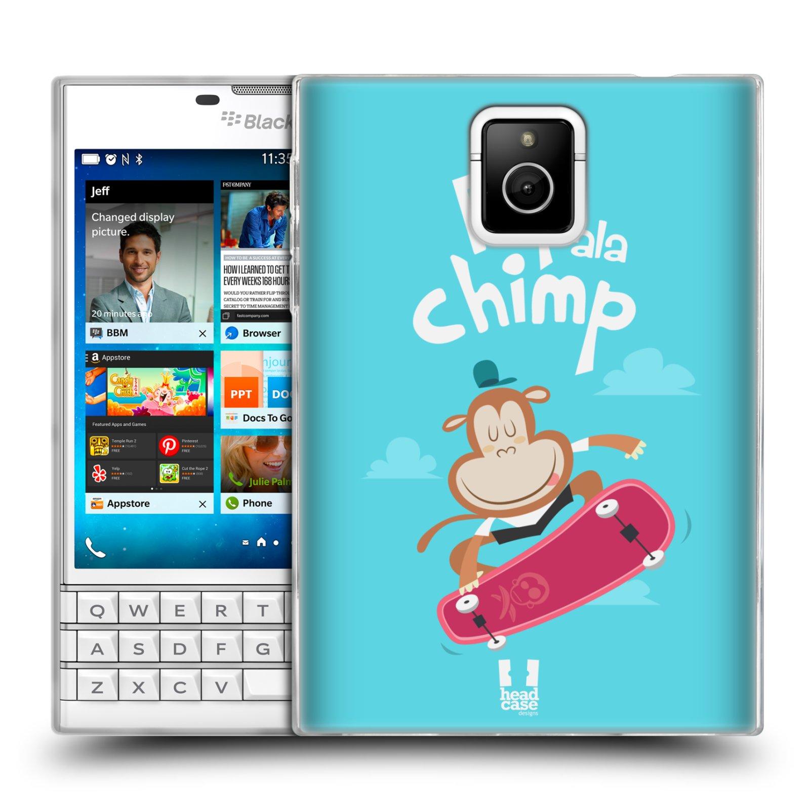 HEAD CASE silikonový obal na mobil Blackberry PASSPORT vzor Zvířátka atleti opice