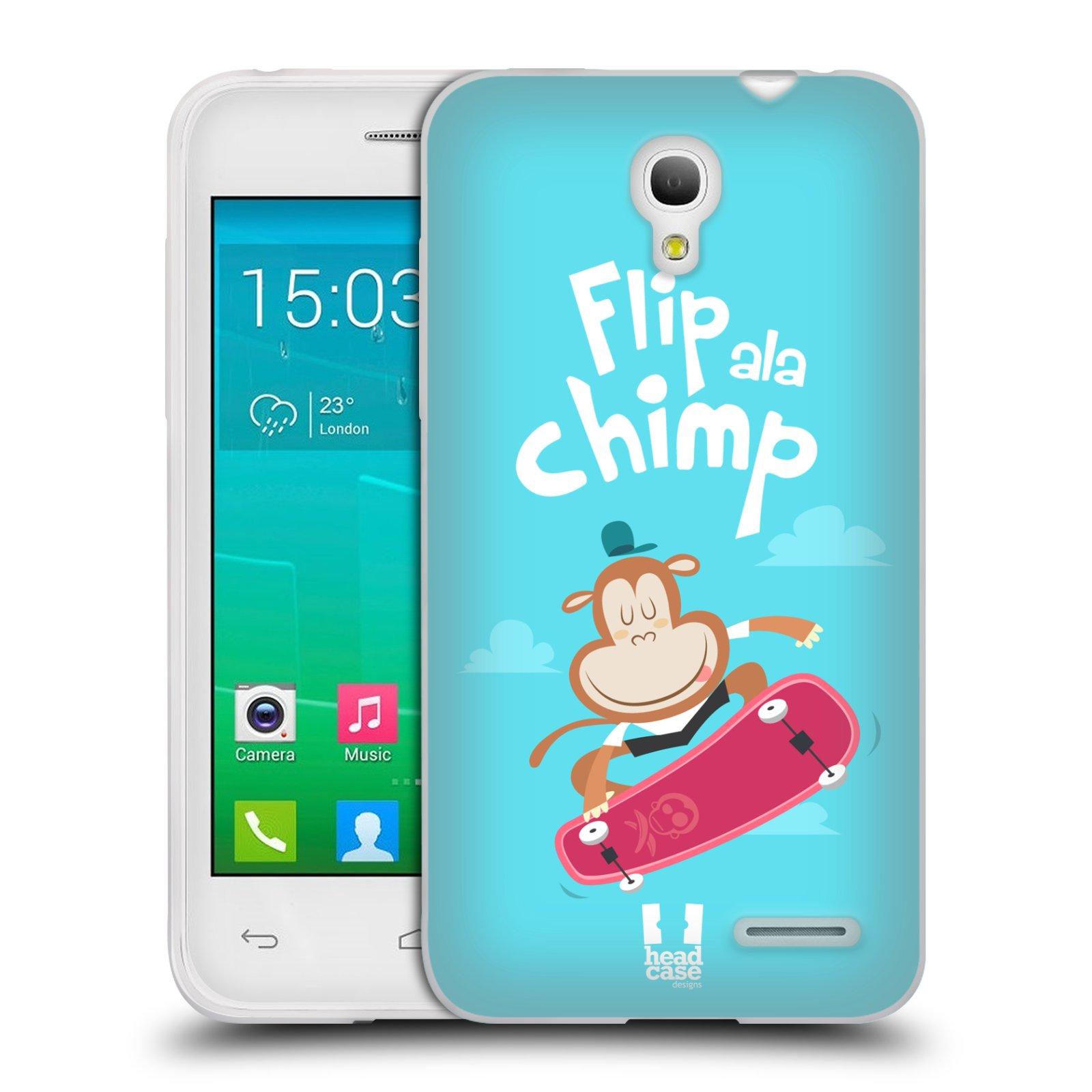 HEAD CASE silikonový obal na mobil Alcatel POP S3 OT-5050Y vzor Zvířátka atleti opice