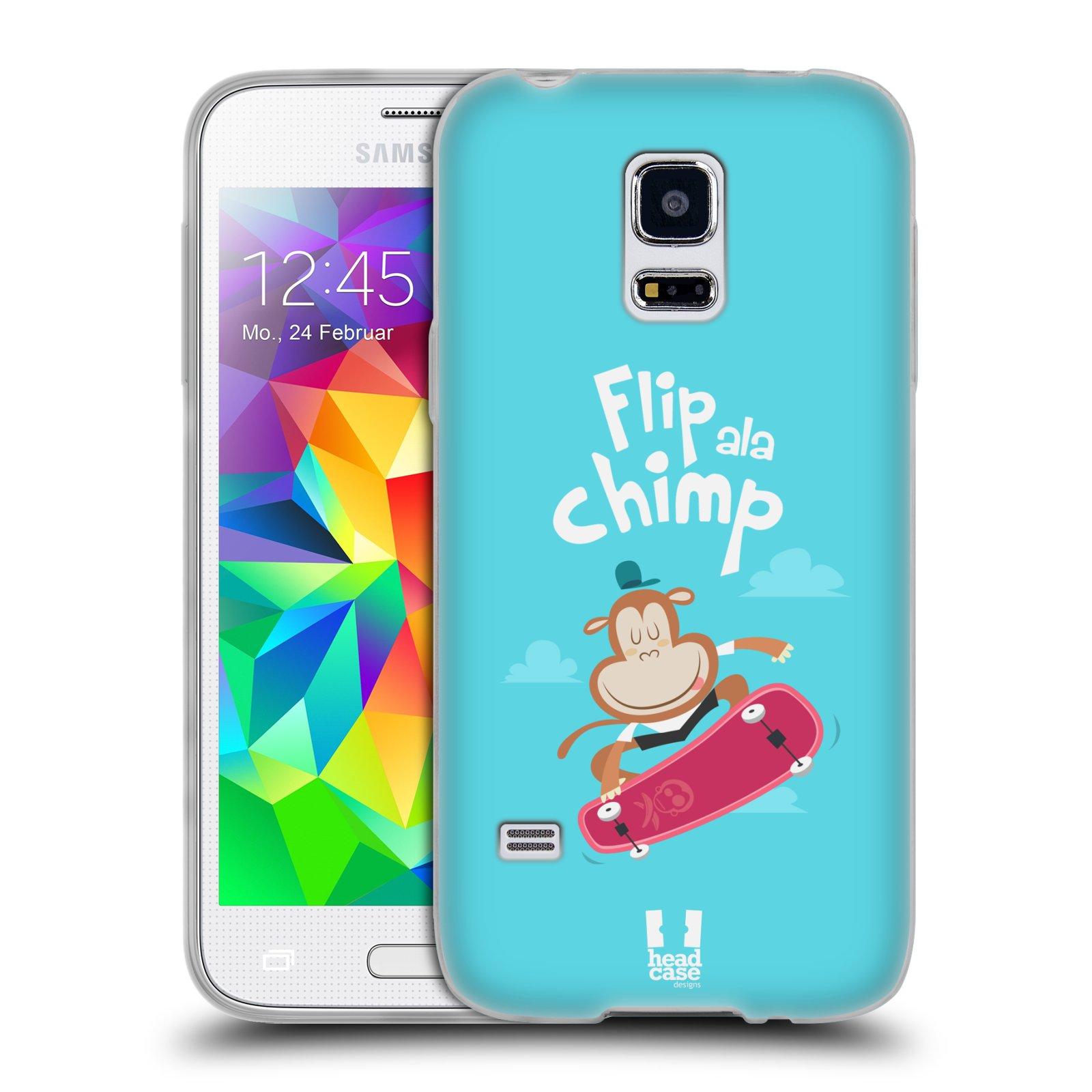 HEAD CASE silikonový obal na mobil Samsung Galaxy S5 MINI vzor Zvířátka atleti opice