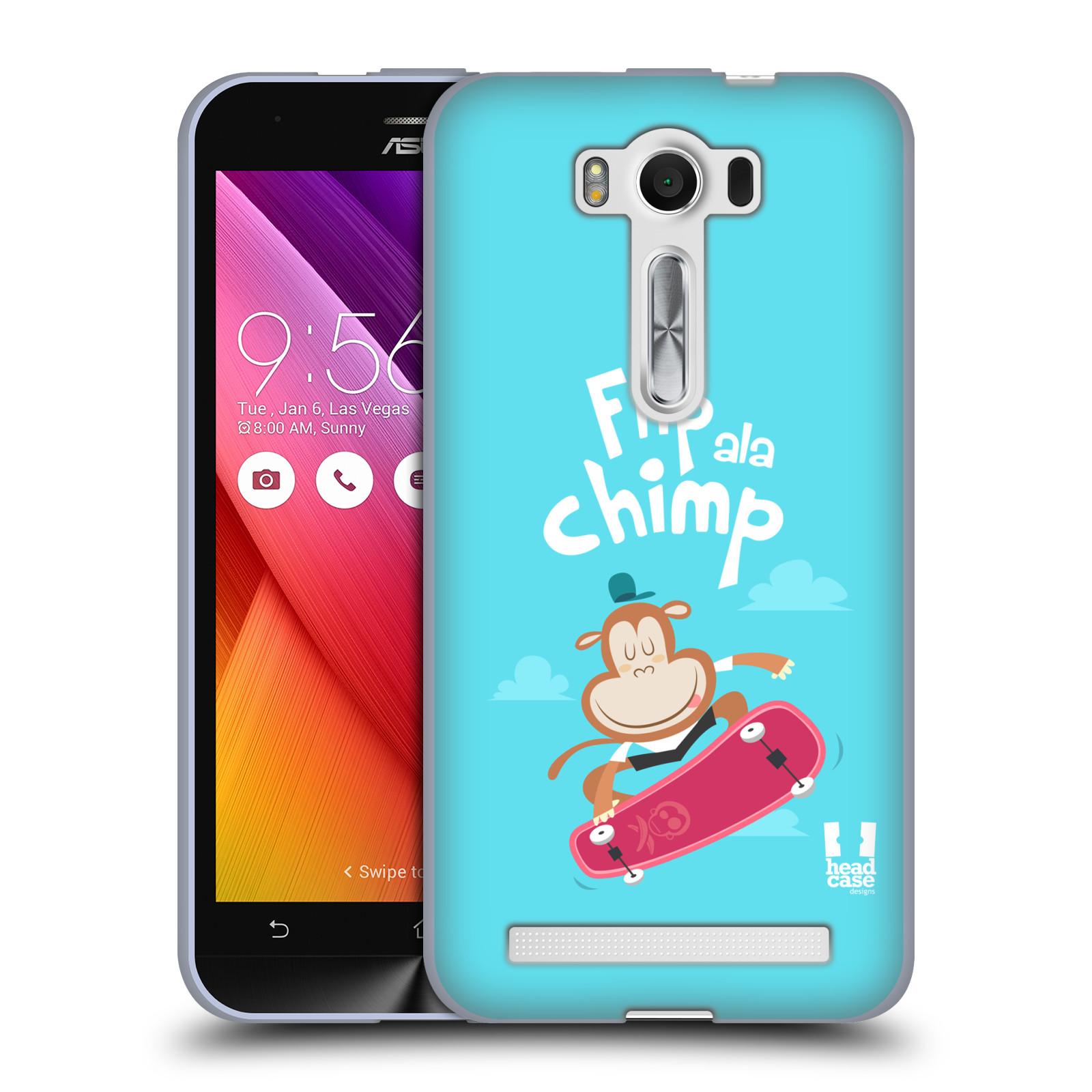 """HEAD CASE silikonový obal na mobil Asus Zenfone 2 LASER (ZE500KL s 5"""" displejem) vzor Zvířátka atleti opice"""