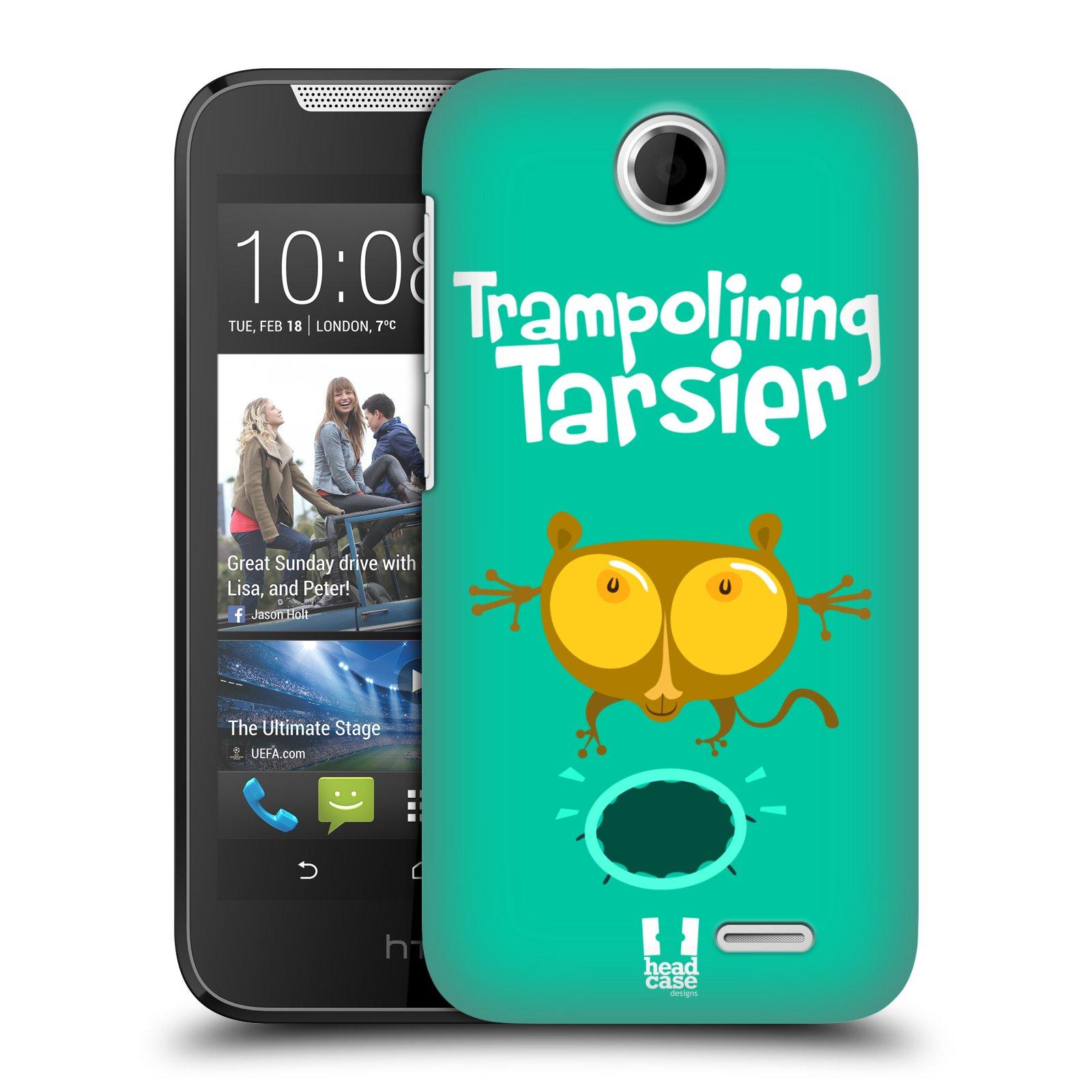 HEAD CASE plastový obal na mobil HTC Desire 310 vzor Zvířátka atleti TARSIER (Nártoun)
