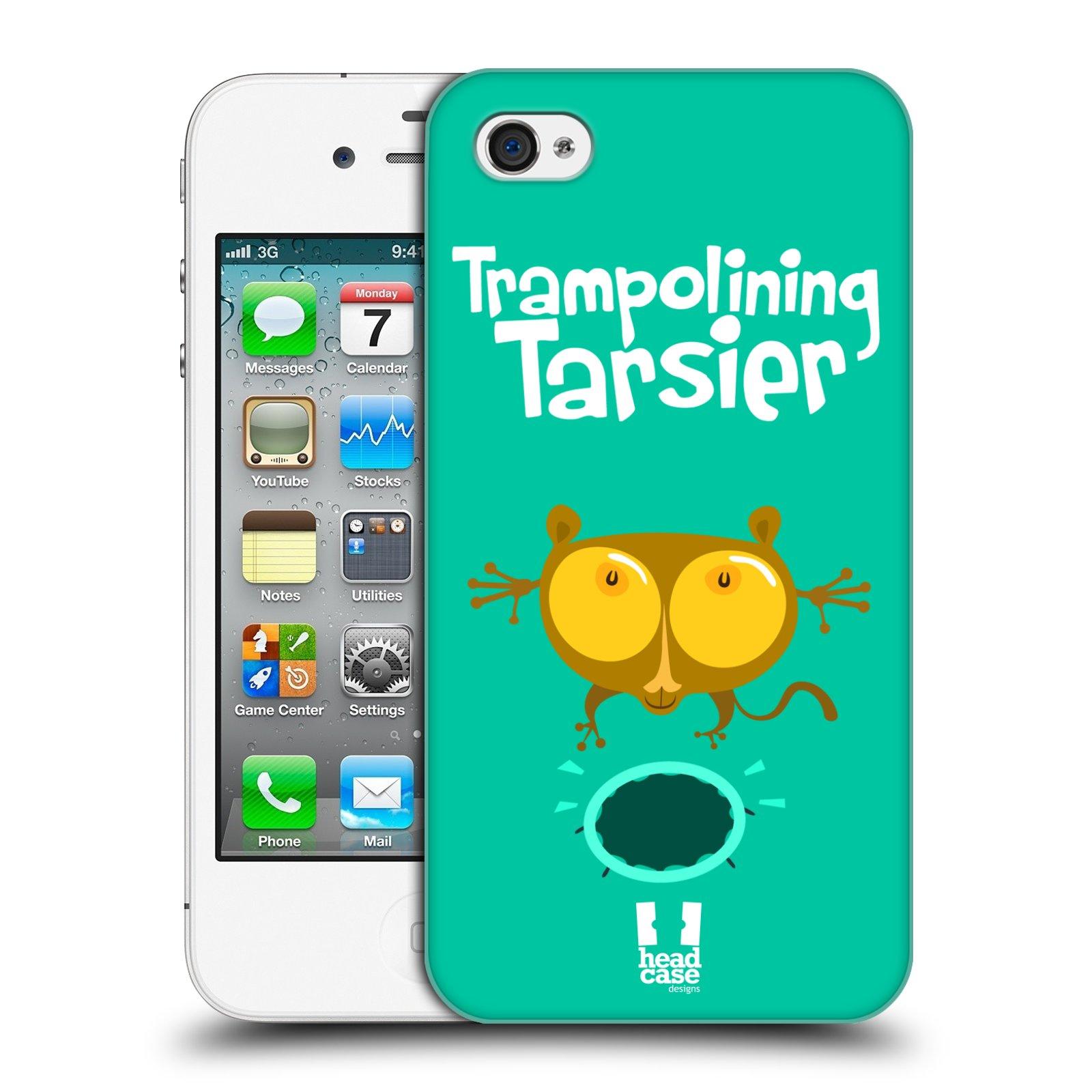 HEAD CASE plastový obal na mobil Apple Iphone 4/4S vzor Zvířátka atleti TARSIER (Nártoun)