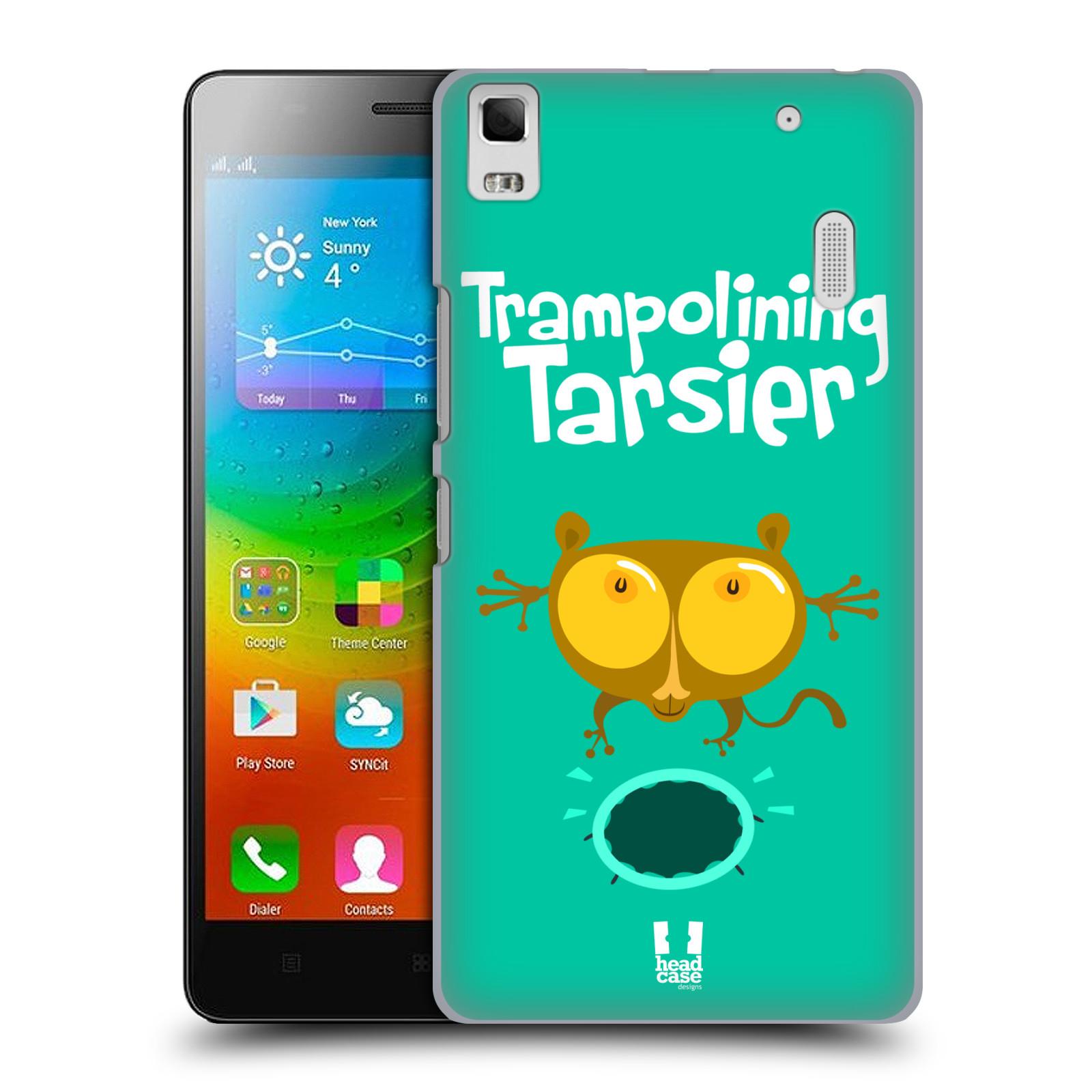 HEAD CASE pevný plastový obal na mobil LENOVO A7000 / A7000 DUAL / K3 NOTE vzor Zvířátka atleti TARSIER (Nártoun)