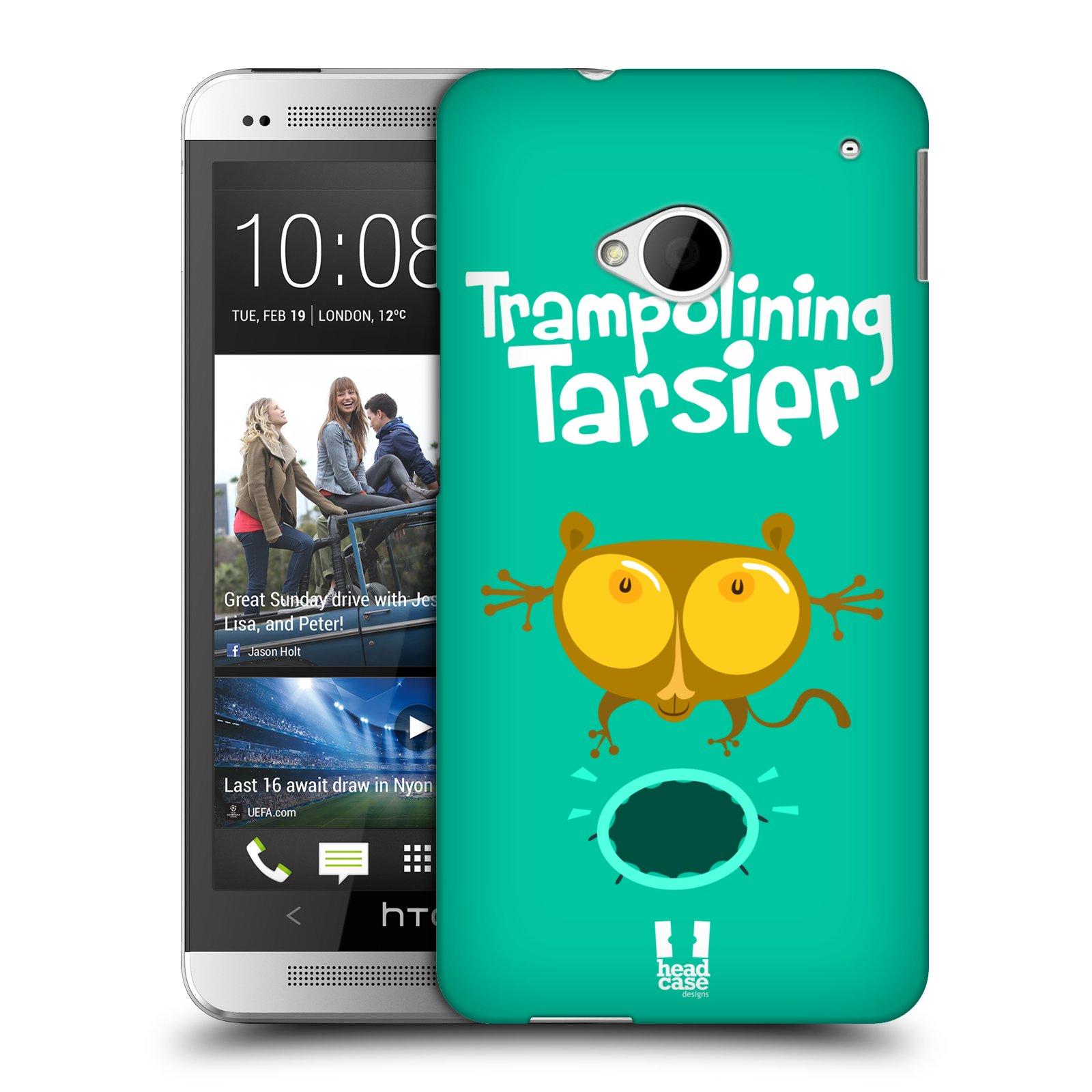 HEAD CASE plastový obal na mobil HTC One (M7) vzor Zvířátka atleti TARSIER (Nártoun)