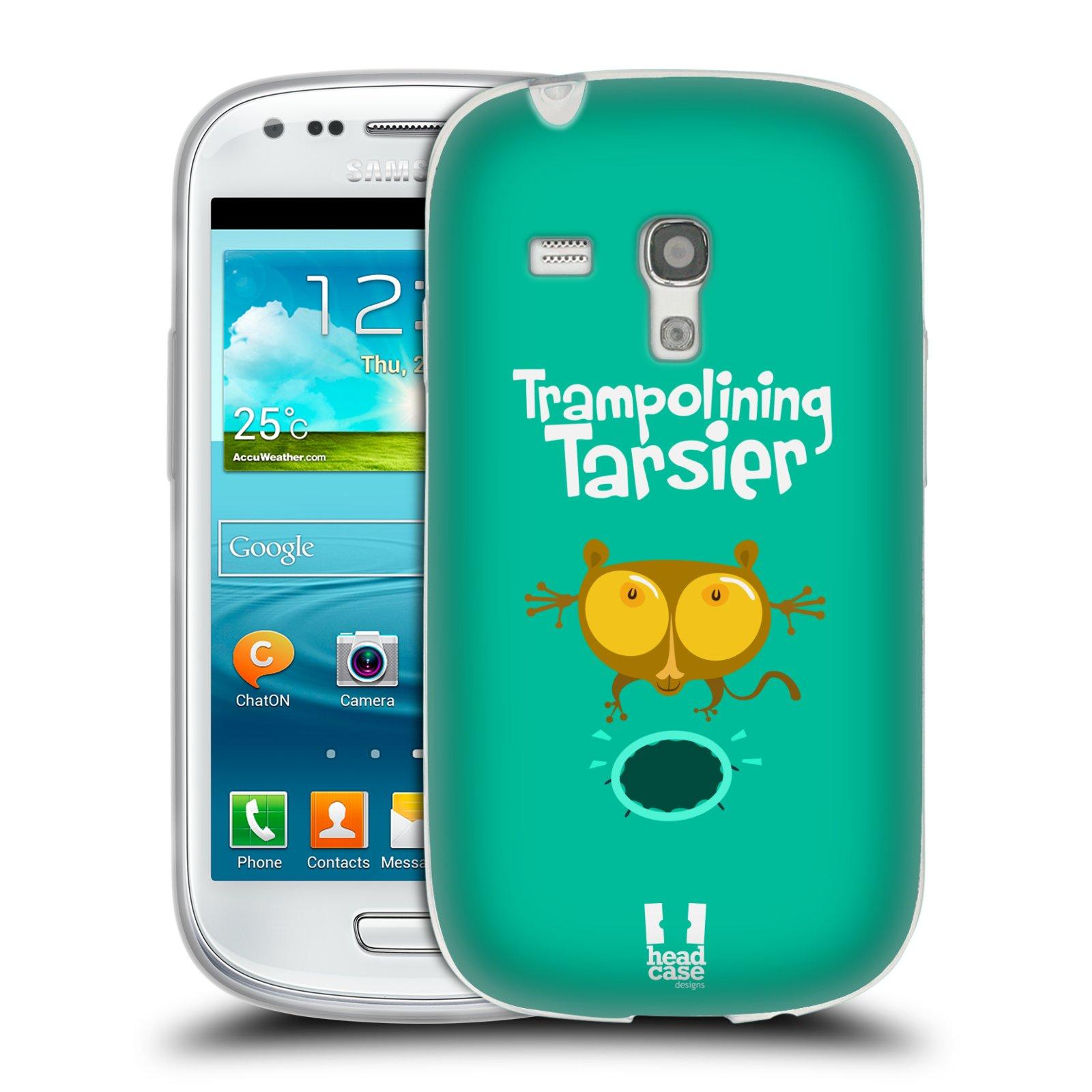 HEAD CASE silikonový obal na mobil Samsung Galaxy S3 MINI i8190 vzor Zvířátka atleti TARSIER (Nártoun)