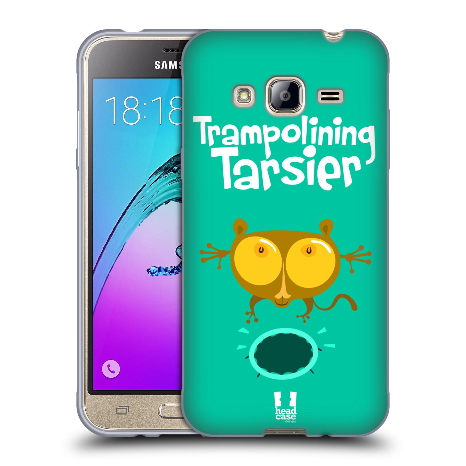 HEAD CASE silikonový obal na mobil Samsung Galaxy J3, J3 2016 vzor Zvířátka atleti TARSIER (Nártoun)