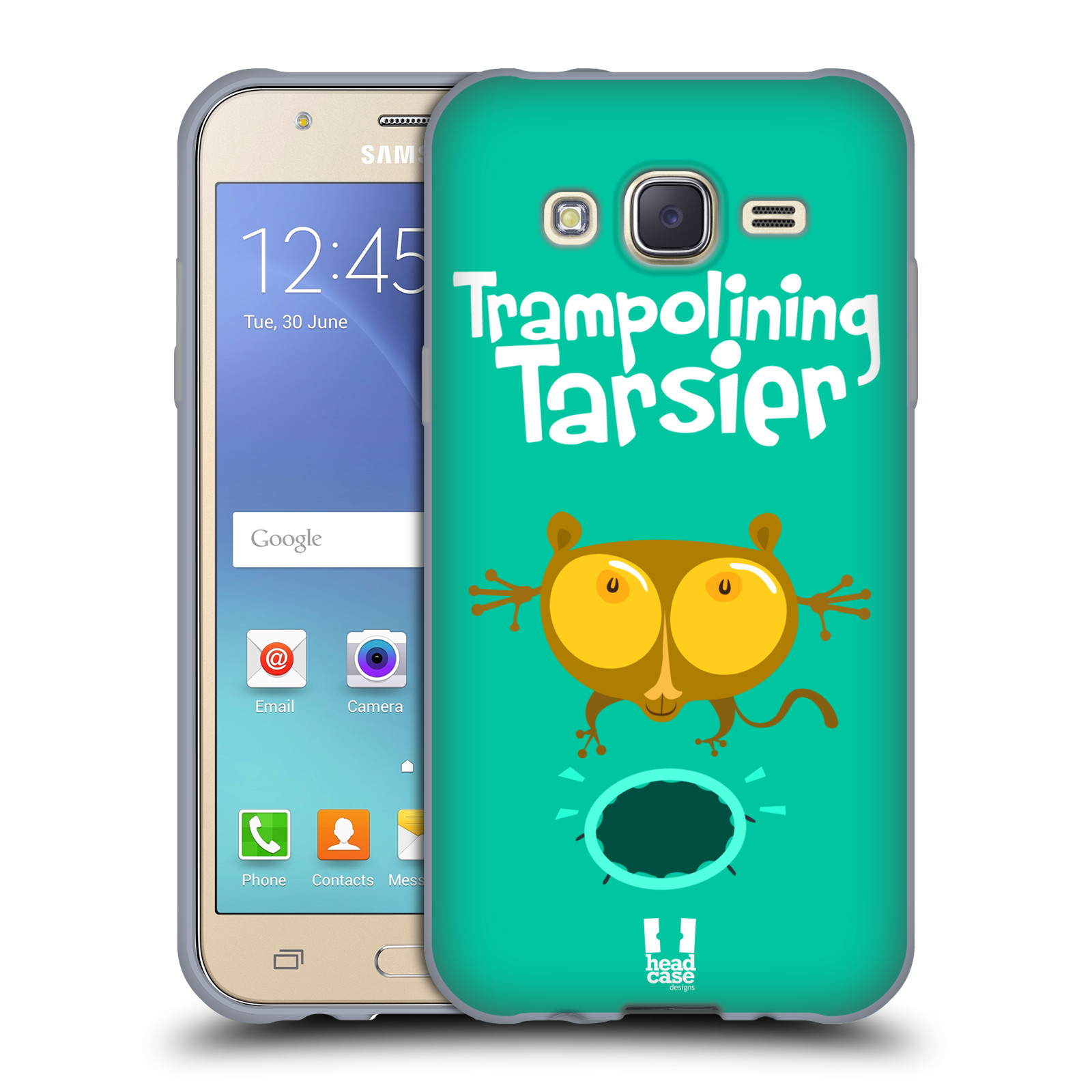 HEAD CASE silikonový obal na mobil Samsung Galaxy J5, J500, (J5 DUOS) vzor Zvířátka atleti TARSIER (Nártoun)