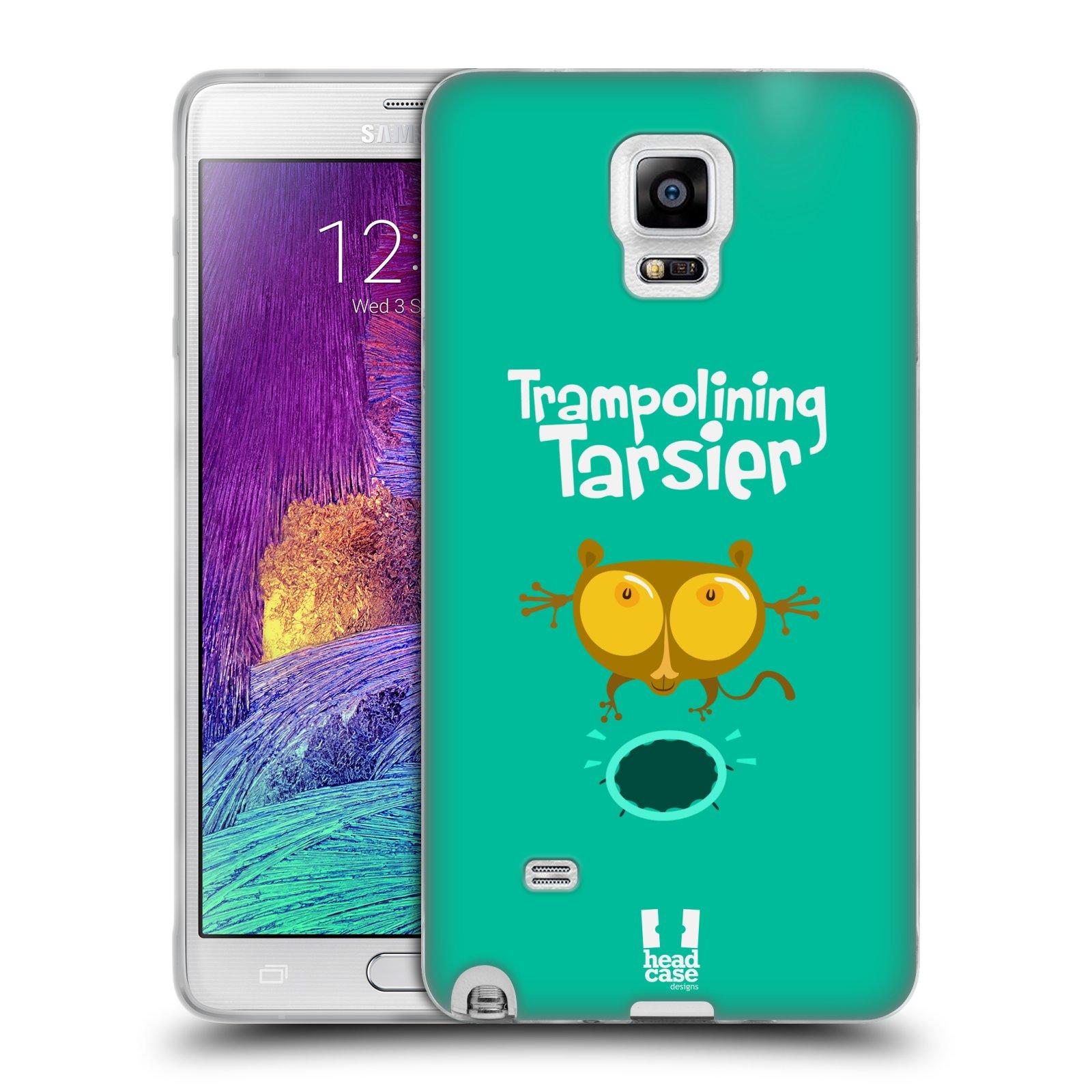 HEAD CASE silikonový obal na mobil Samsung Galaxy Note 4 (N910) vzor Zvířátka atleti TARSIER (Nártoun)