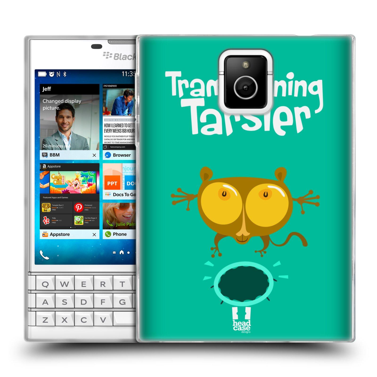 HEAD CASE silikonový obal na mobil Blackberry PASSPORT vzor Zvířátka atleti TARSIER (Nártoun)