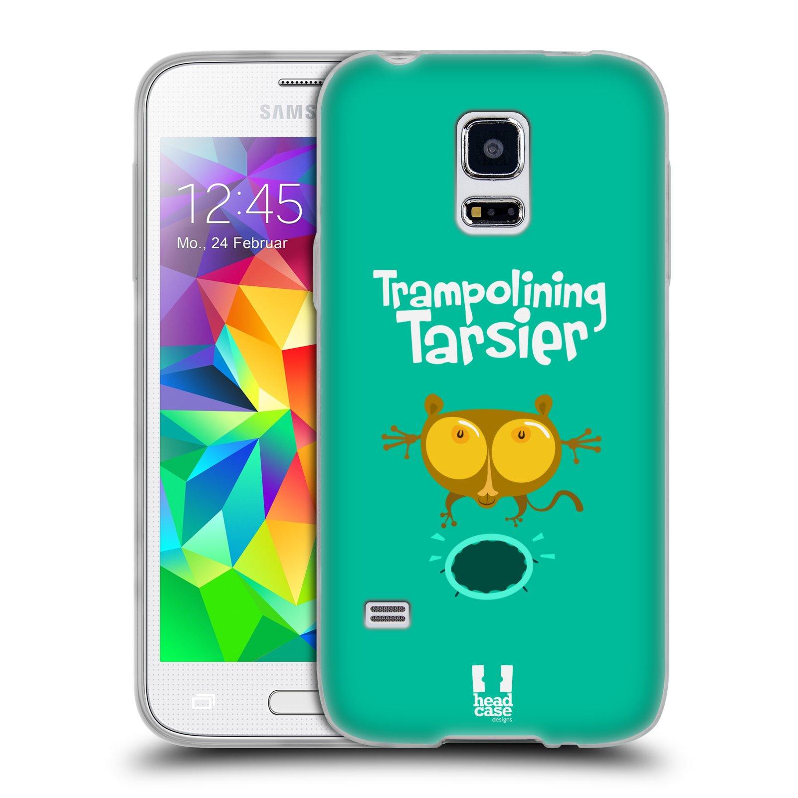 HEAD CASE silikonový obal na mobil Samsung Galaxy S5 MINI vzor Zvířátka atleti TARSIER (Nártoun)