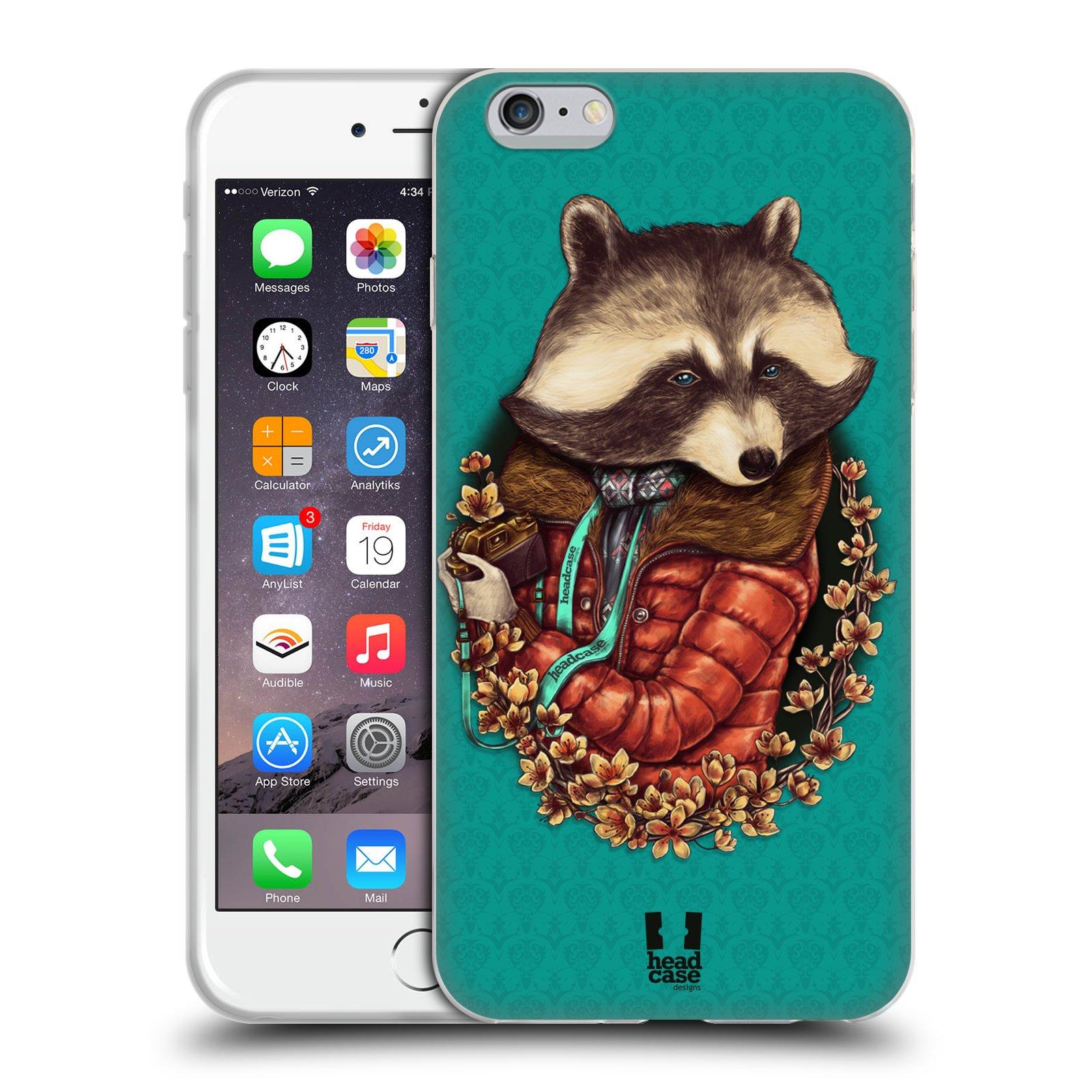 HEAD CASE silikonový obal na mobil Apple Iphone 6 PLUS/ 6S PLUS vzor módní zvířátka mýval