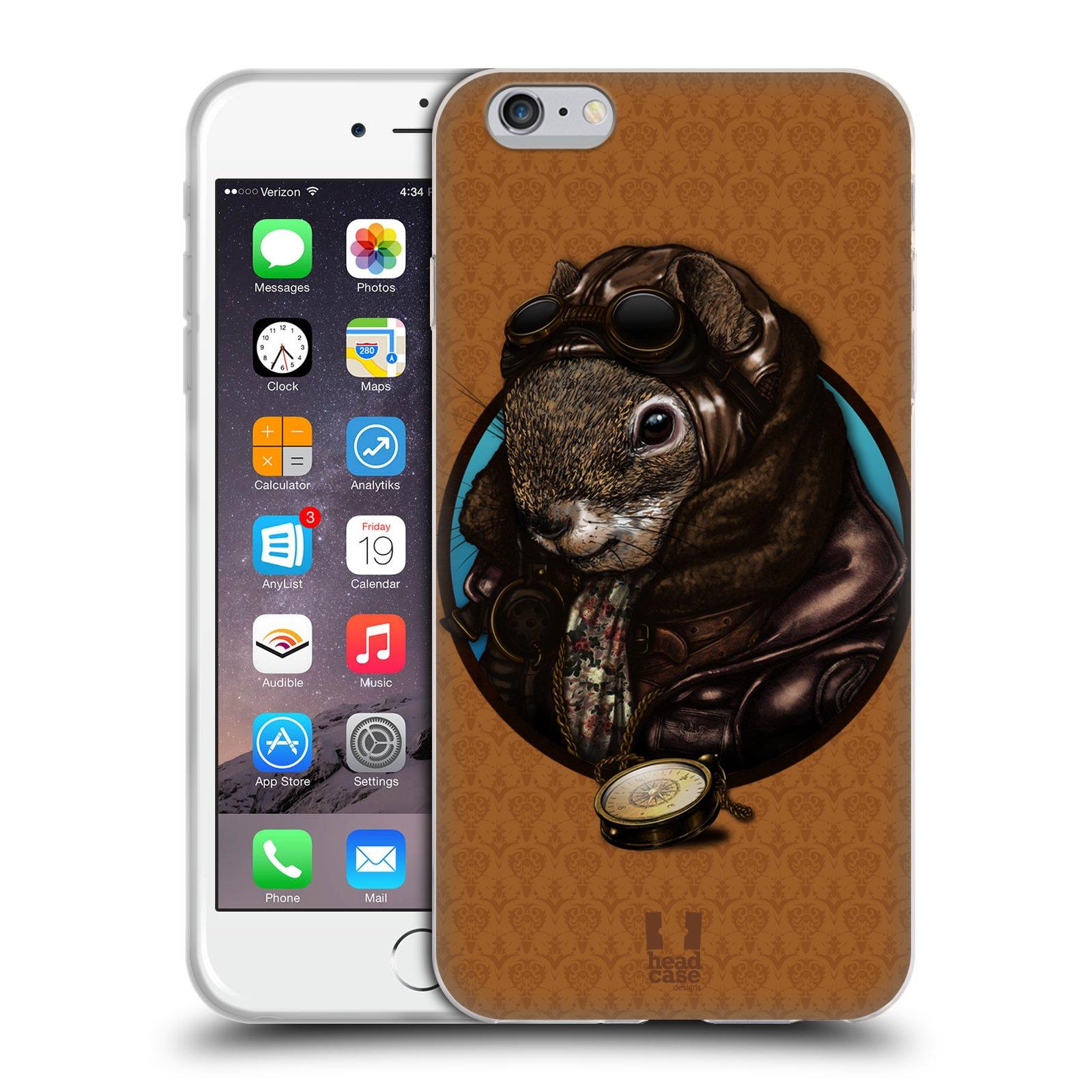 HEAD CASE silikonový obal na mobil Apple Iphone 6 PLUS/ 6S PLUS vzor módní zvířátka veverka