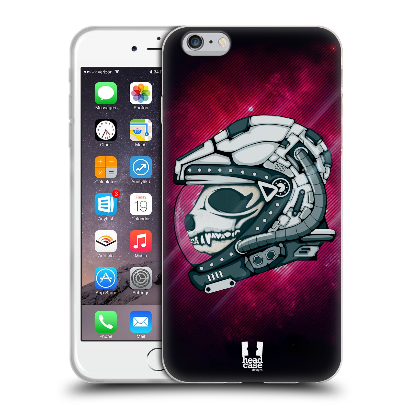 HEAD CASE silikonový obal na mobil Apple Iphone 6 PLUS/ 6S PLUS vzor zvířecí lebka astronaut panda