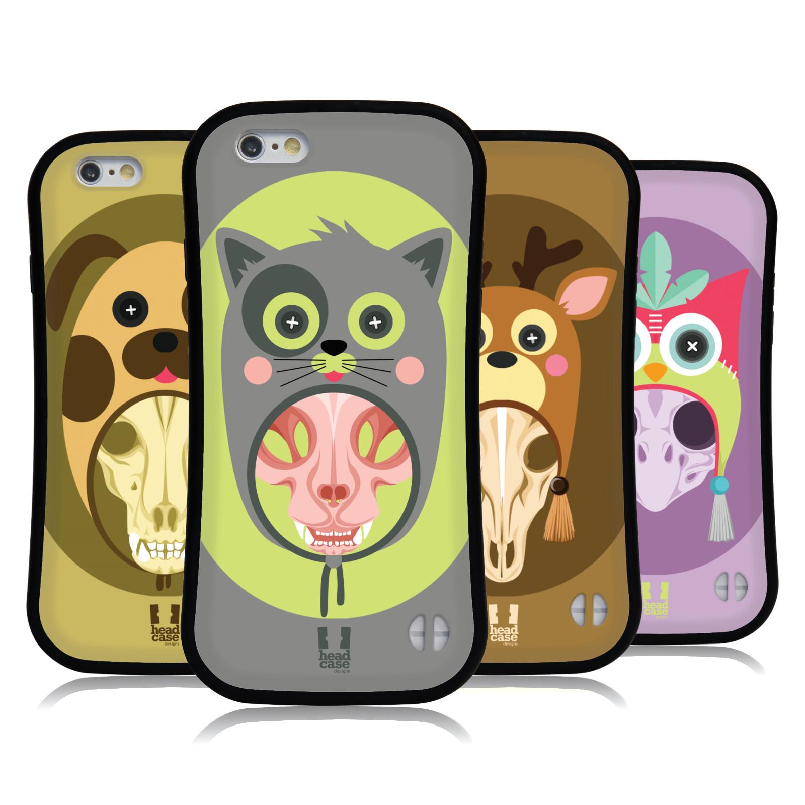 HEAD-CASE-DESIGNS-TIERSCHADEL-MIT-HUTE-HYBRID-HULLE-FUR-APPLE-iPHONES-HANDYS