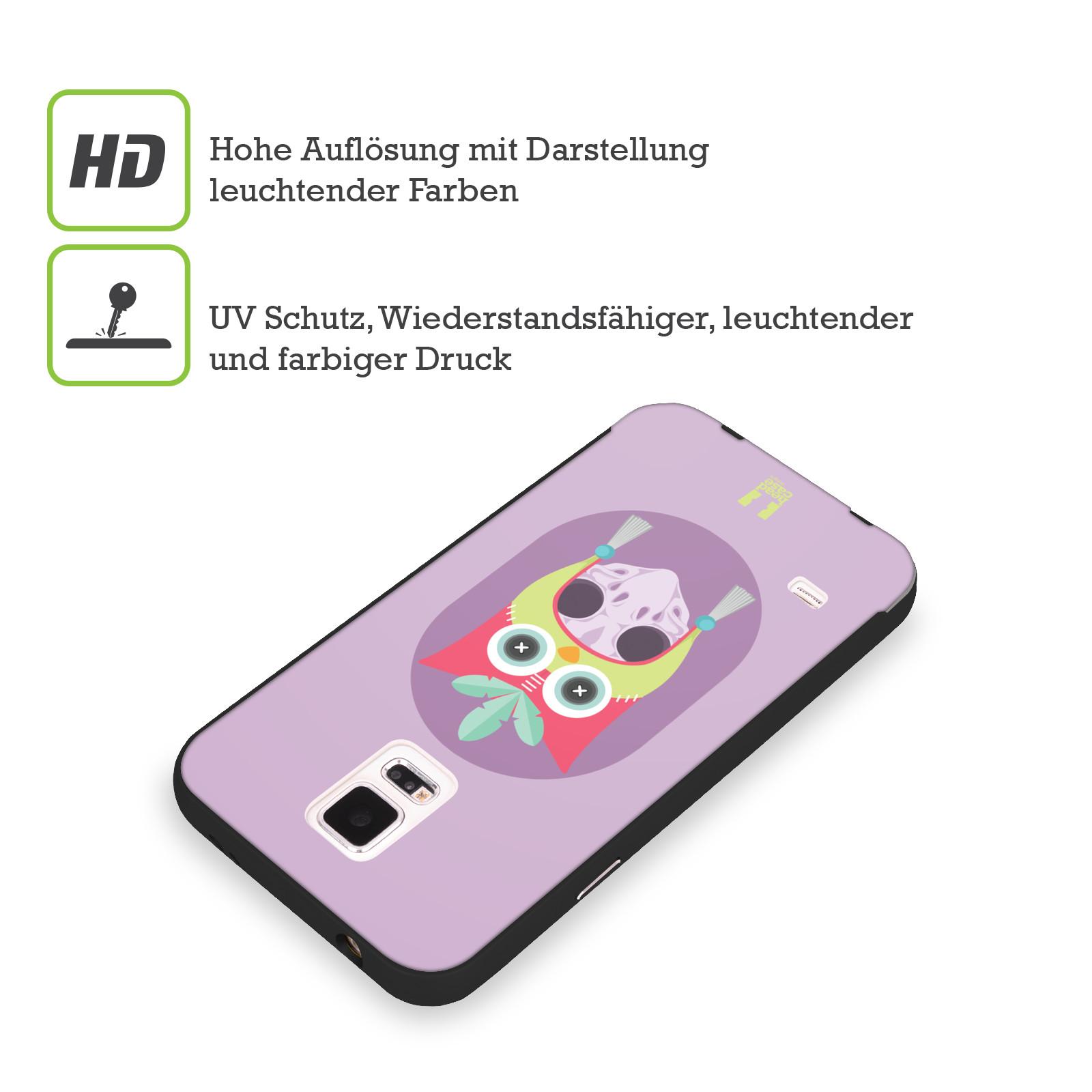 HEAD-CASE-DESIGNS-TIERSCHADEL-MIT-HUTE-SCHWARZ-RAHMEN-HULLE-FUR-SAMSUNG-HANDYS