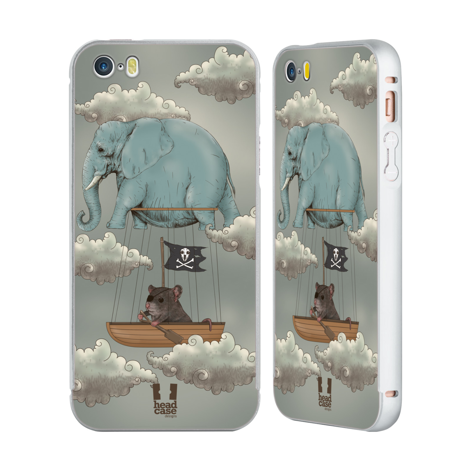 HEAD-CASE-DESIGNS-ANIMAL-FANTASIES-SILVER-SLIDER-CASE-FOR-APPLE-iPHONE-PHONES