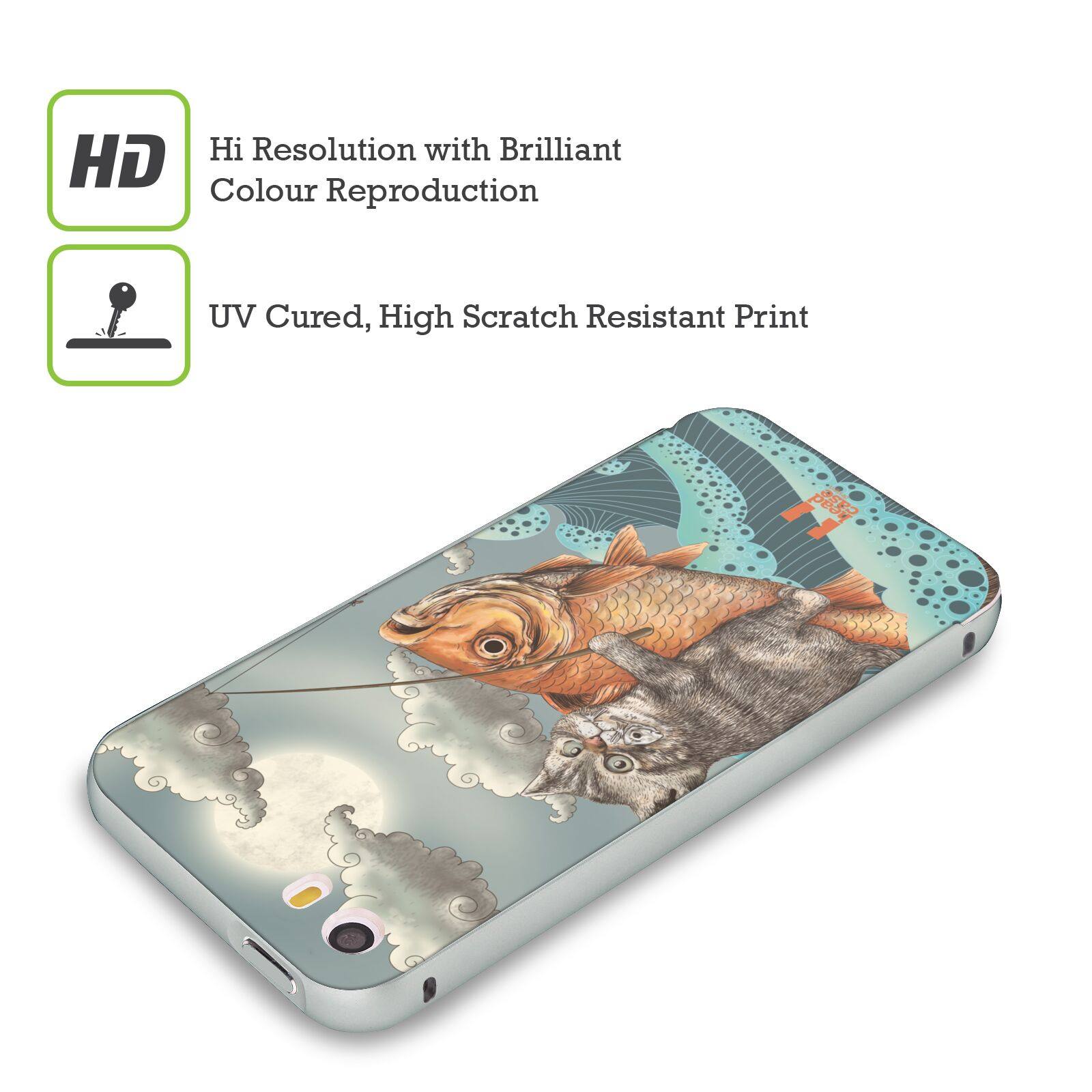 HEAD-CASE-DESIGNS-ANIMAL-FANTASIES-SILVER-SLIDER-CASE-FOR-APPLE-iPHONE-PHONES