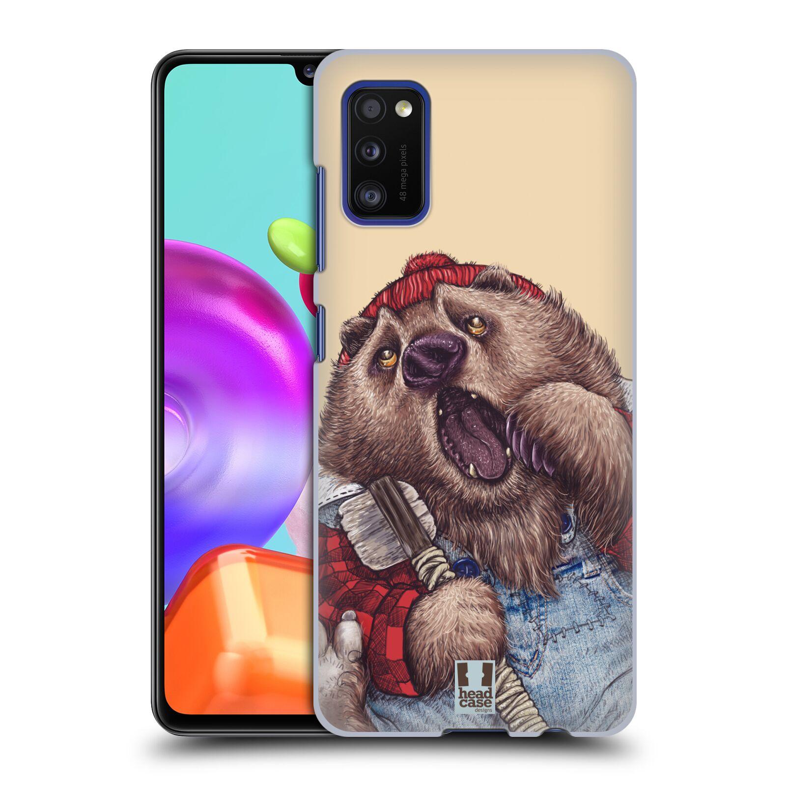 Zadní kryt na mobil Samsung Galaxy A41 vzor Kreslená zvířátka medvěd