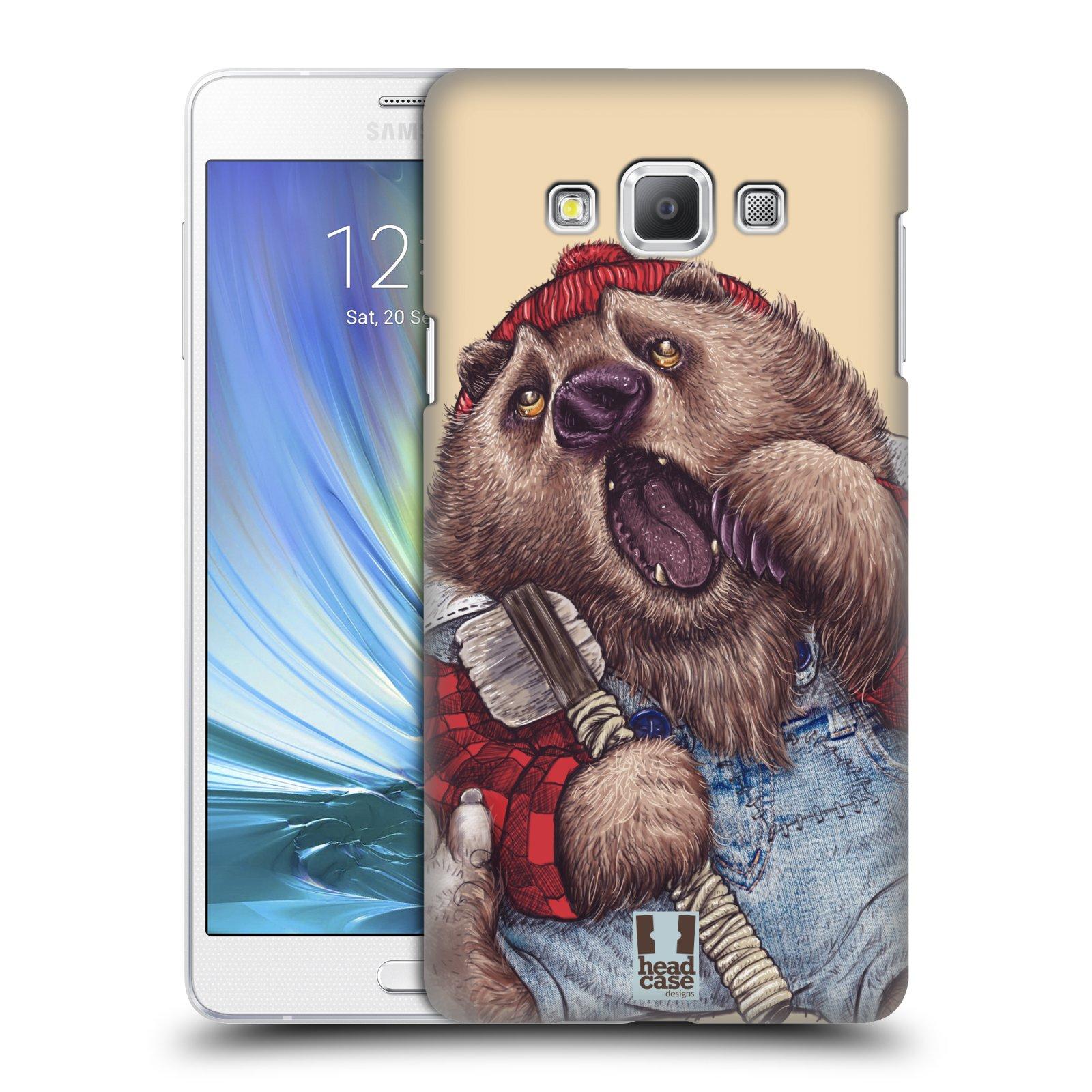 HEAD CASE plastový obal na mobil SAMSUNG GALAXY A7 vzor Kreslená zvířátka medvěd