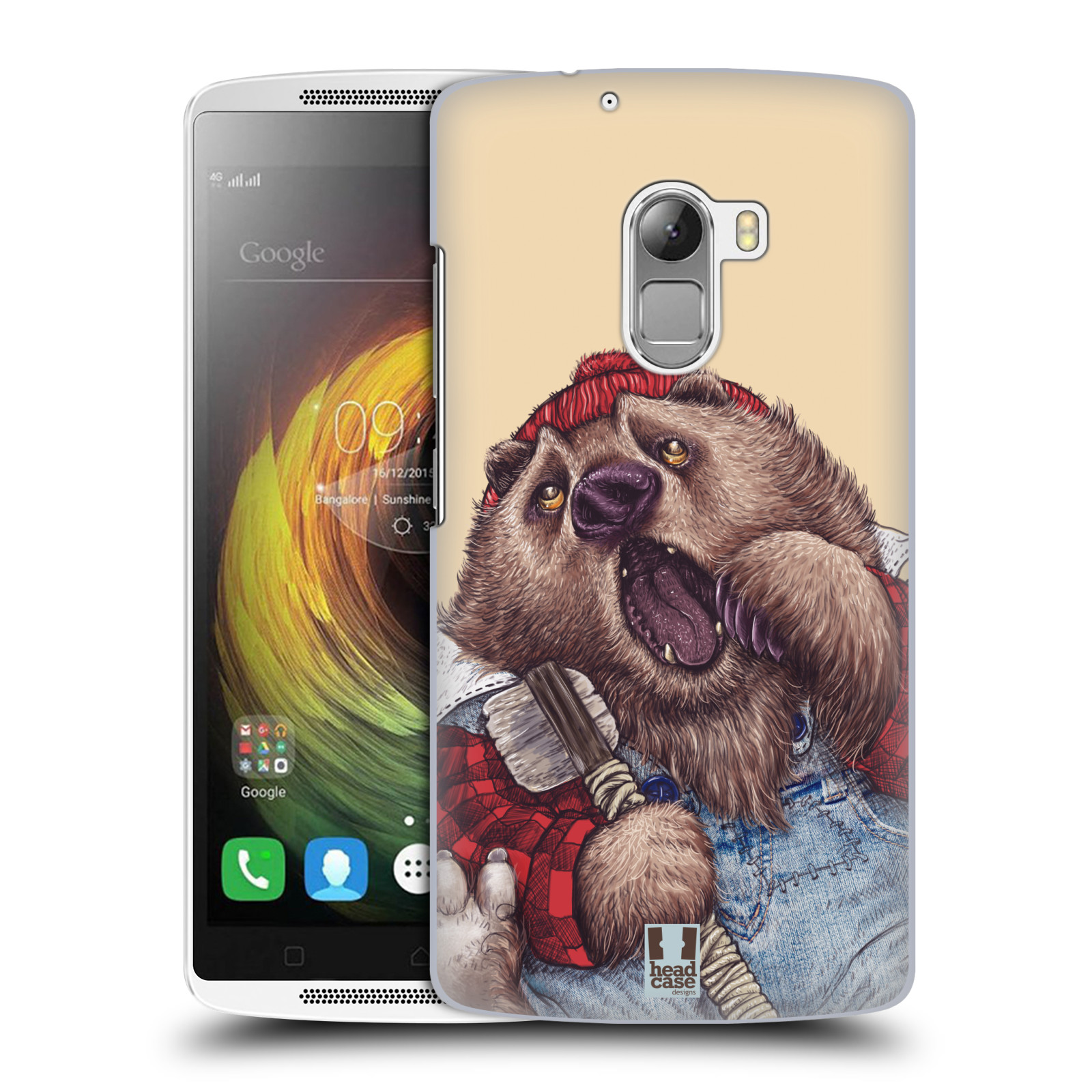 HEAD CASE pevný plastový obal na mobil LENOVO A7010 / A7010 DUAL / K4 Note / Vibe X3 lite vzor Kreslená zvířátka medvěd