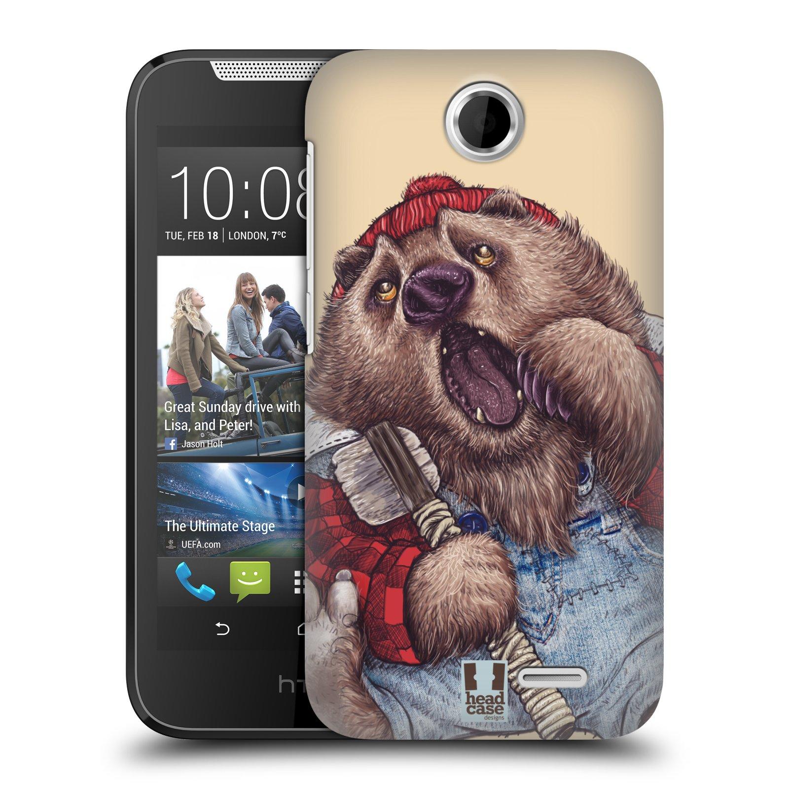 HEAD CASE plastový obal na mobil HTC Desire 310 vzor Kreslená zvířátka medvěd