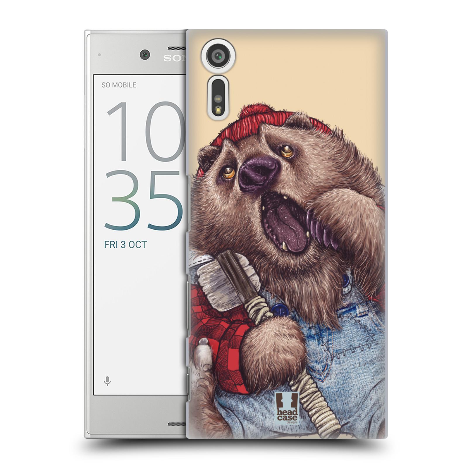 HEAD CASE plastový obal na mobil Sony Xperia XZ vzor Kreslená zvířátka medvěd